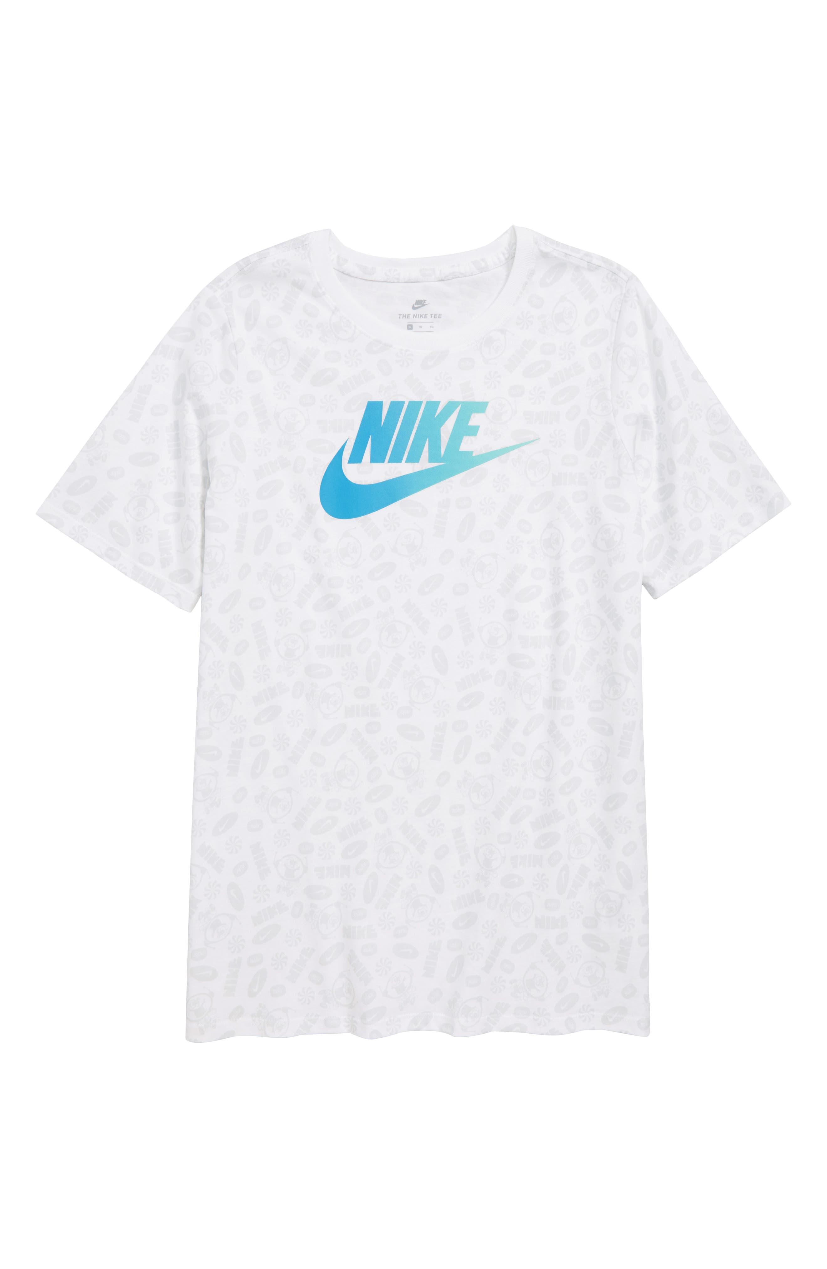 Swoosh Splash T-Shirt,                         Main,                         color, White