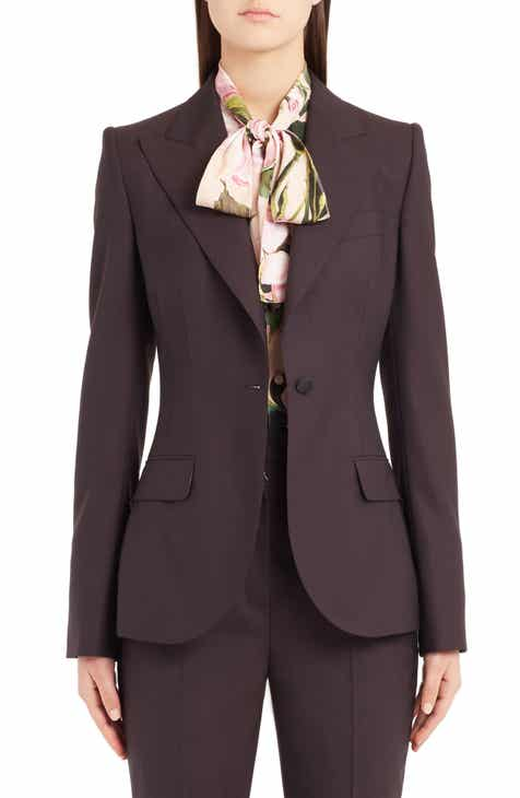 Dolce&Gabbana Stretch Wool Jacket By DOLCE AND GABBANA by DOLCE AND GABBANA New Design