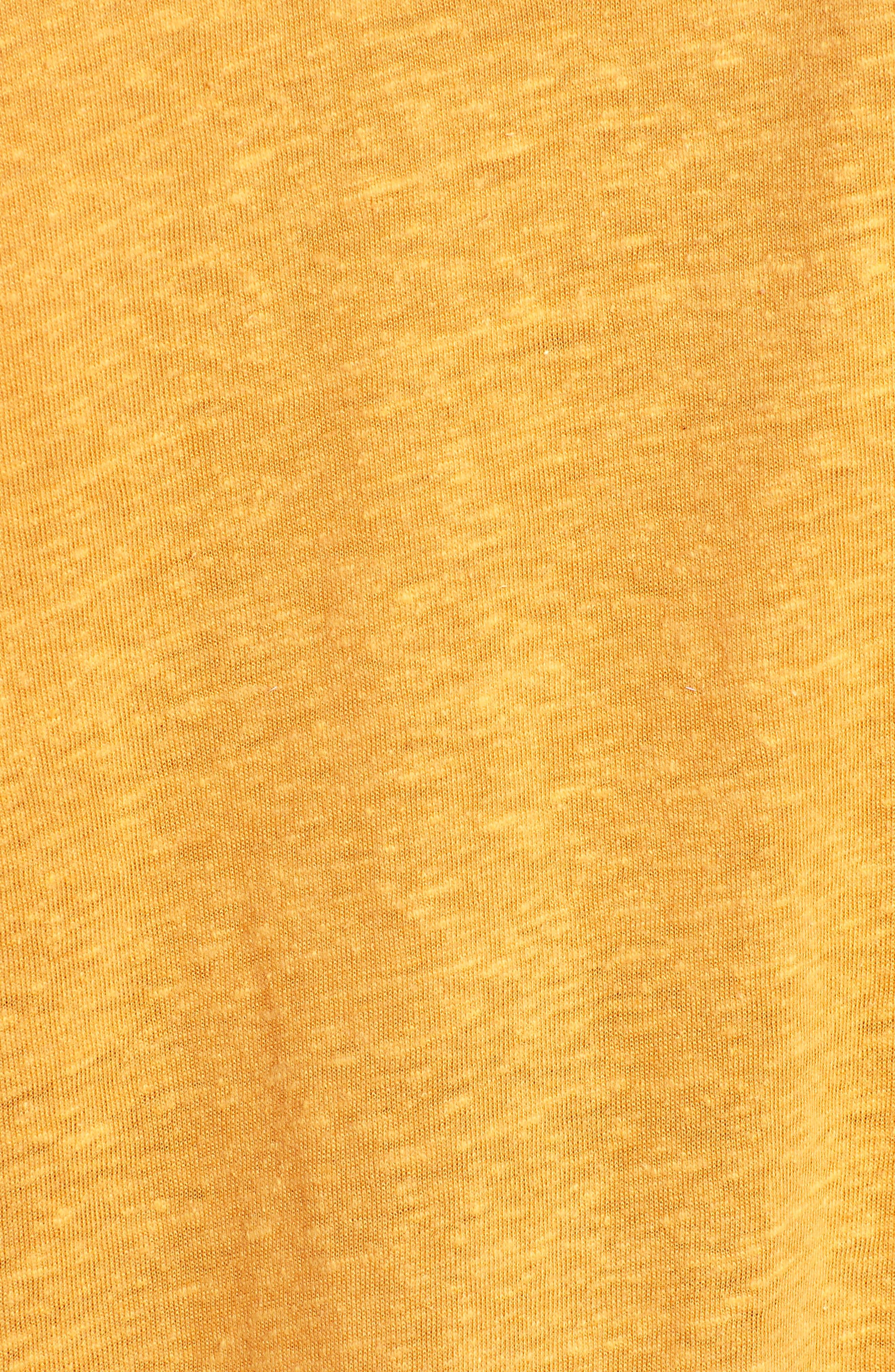Twist Neck Tee,                             Alternate thumbnail 5, color,                             Butterscotch