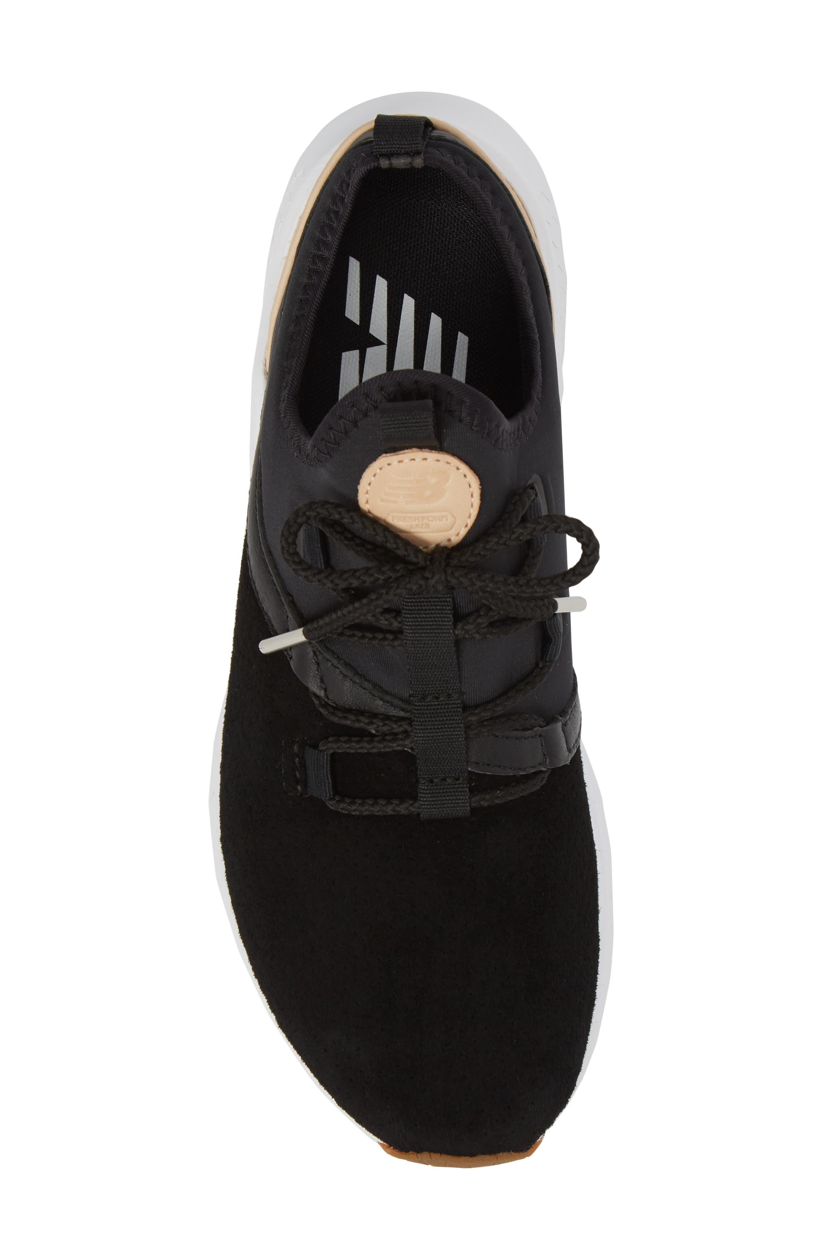 Fresh Foam Lazer Luxe Sneaker,                             Alternate thumbnail 4, color,                             Black