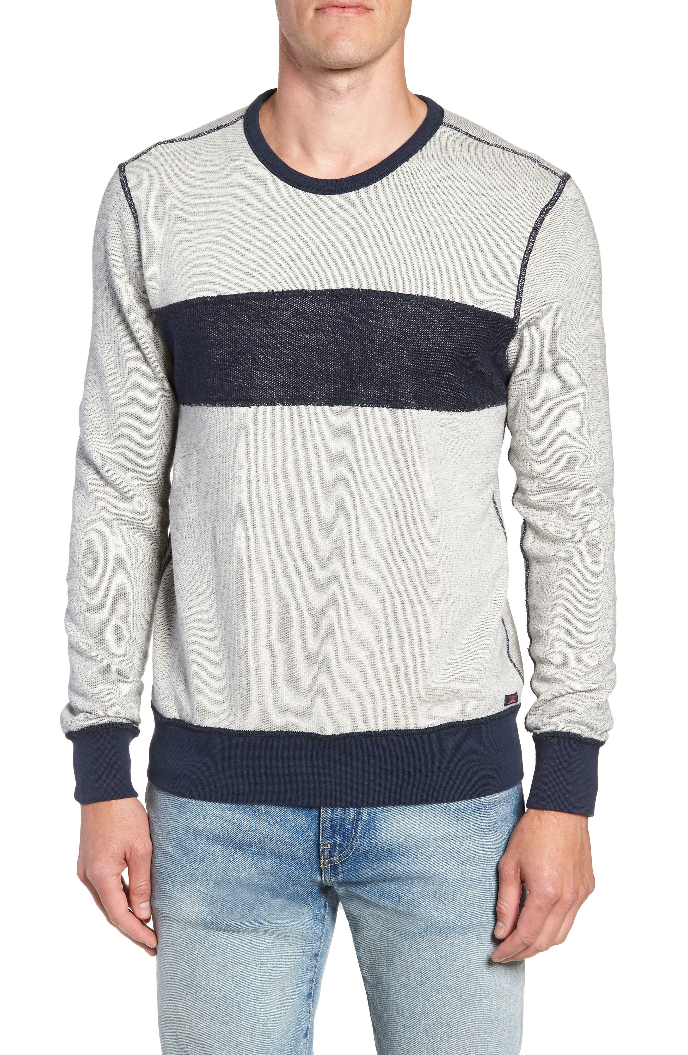 Reversible Colorblock Terry Sweatshirt,                             Alternate thumbnail 6, color,                             Navy / Grey