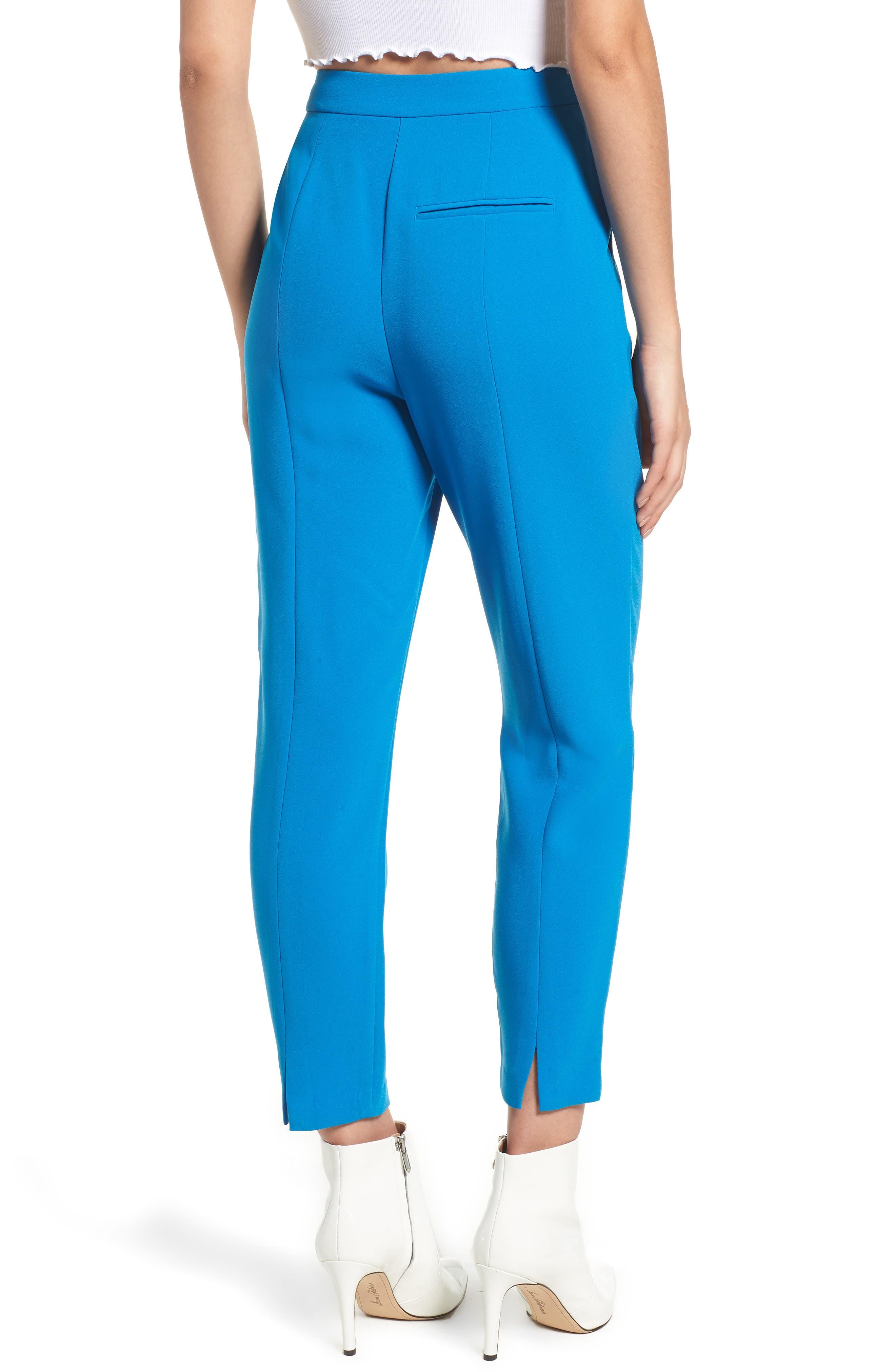 Clara Peg Belted Trousers,                             Alternate thumbnail 2, color,                             Cobalt