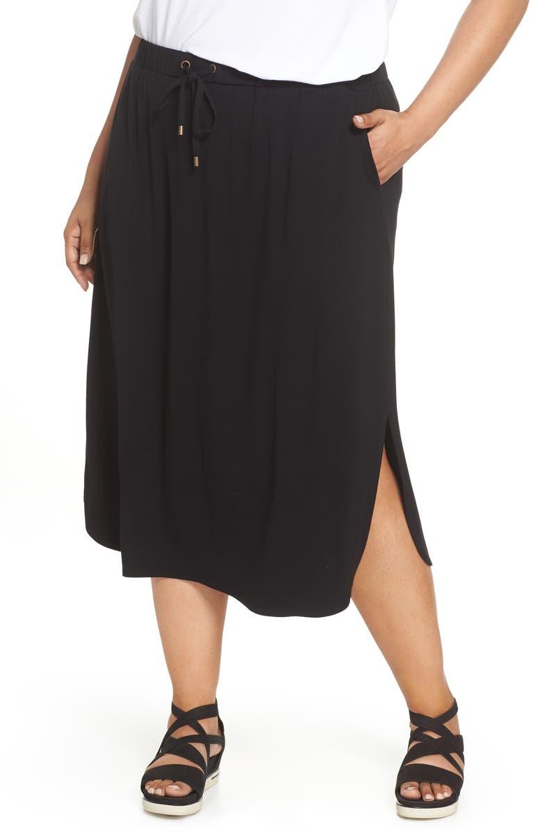 Drawstring Jersey Skirt