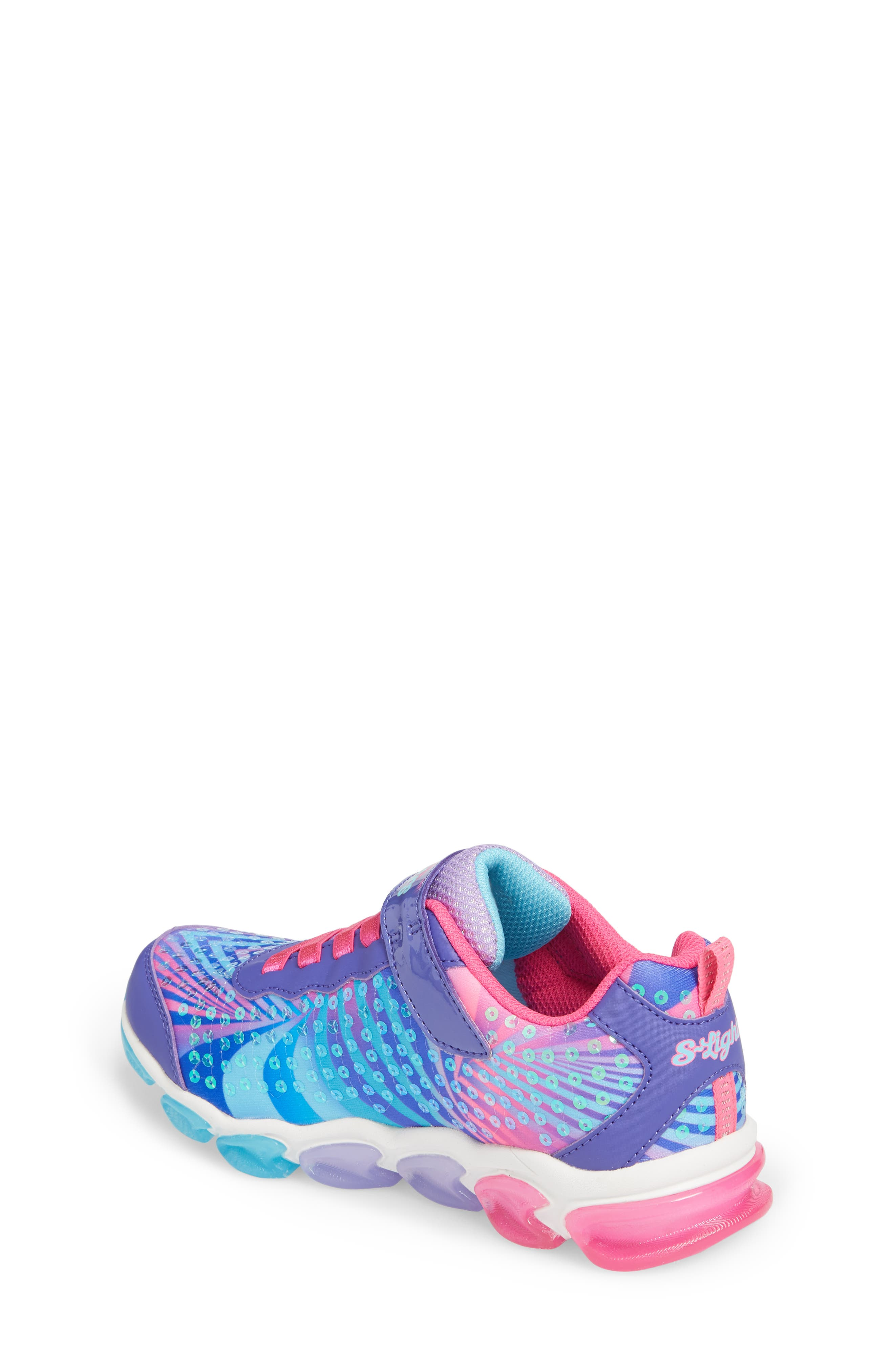 Jelly Beams Light-Up Sneaker,                             Alternate thumbnail 2, color,                             Purple/ Multi