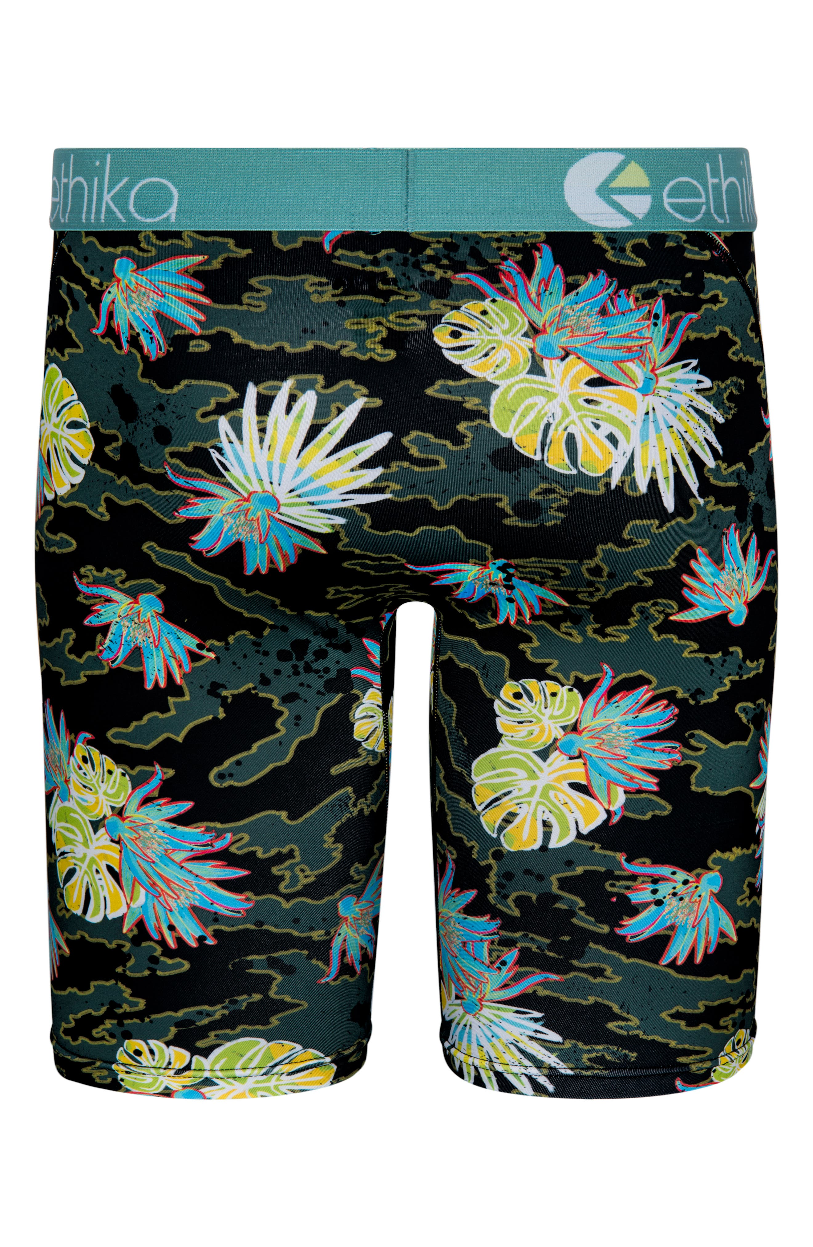 Cammo Paradise Stretch Boxer Briefs,                             Alternate thumbnail 2, color,                             Green