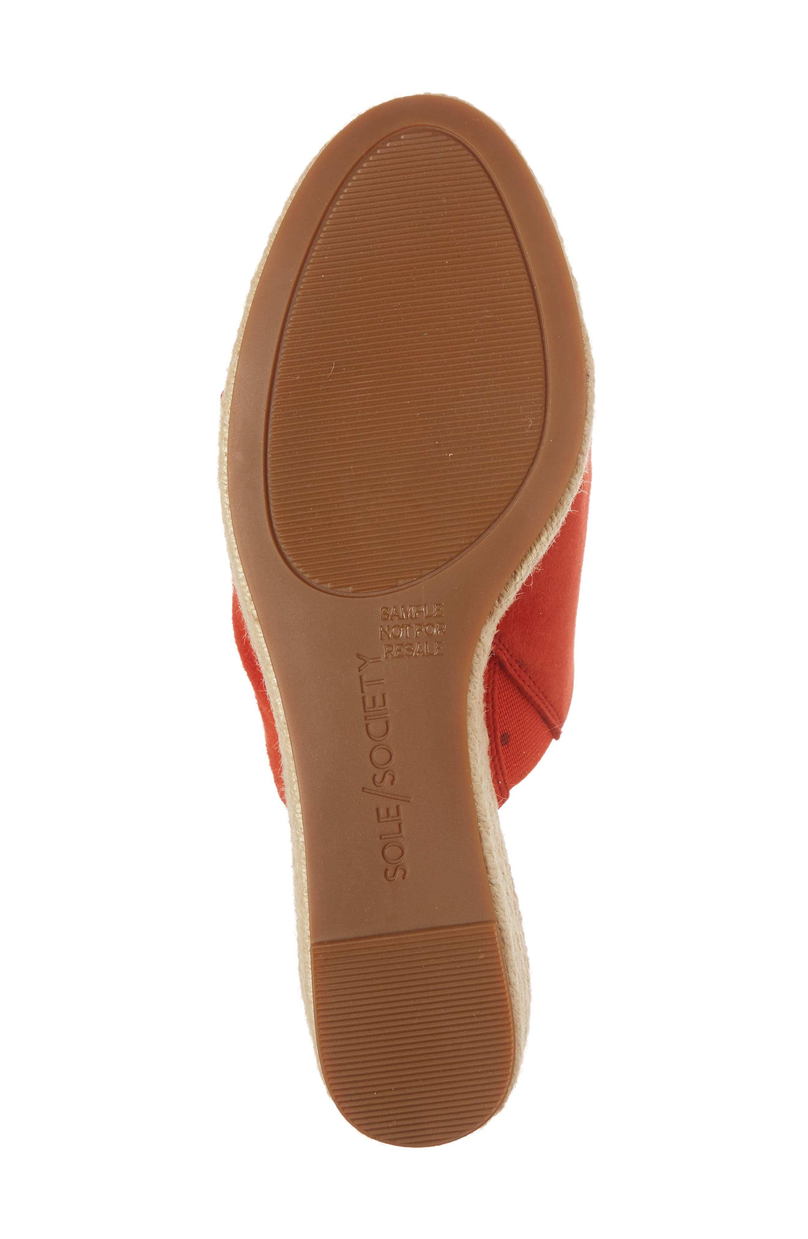 Carima Espadrille Wedge,                             Alternate thumbnail 6, color,                             Bright Coral Suede
