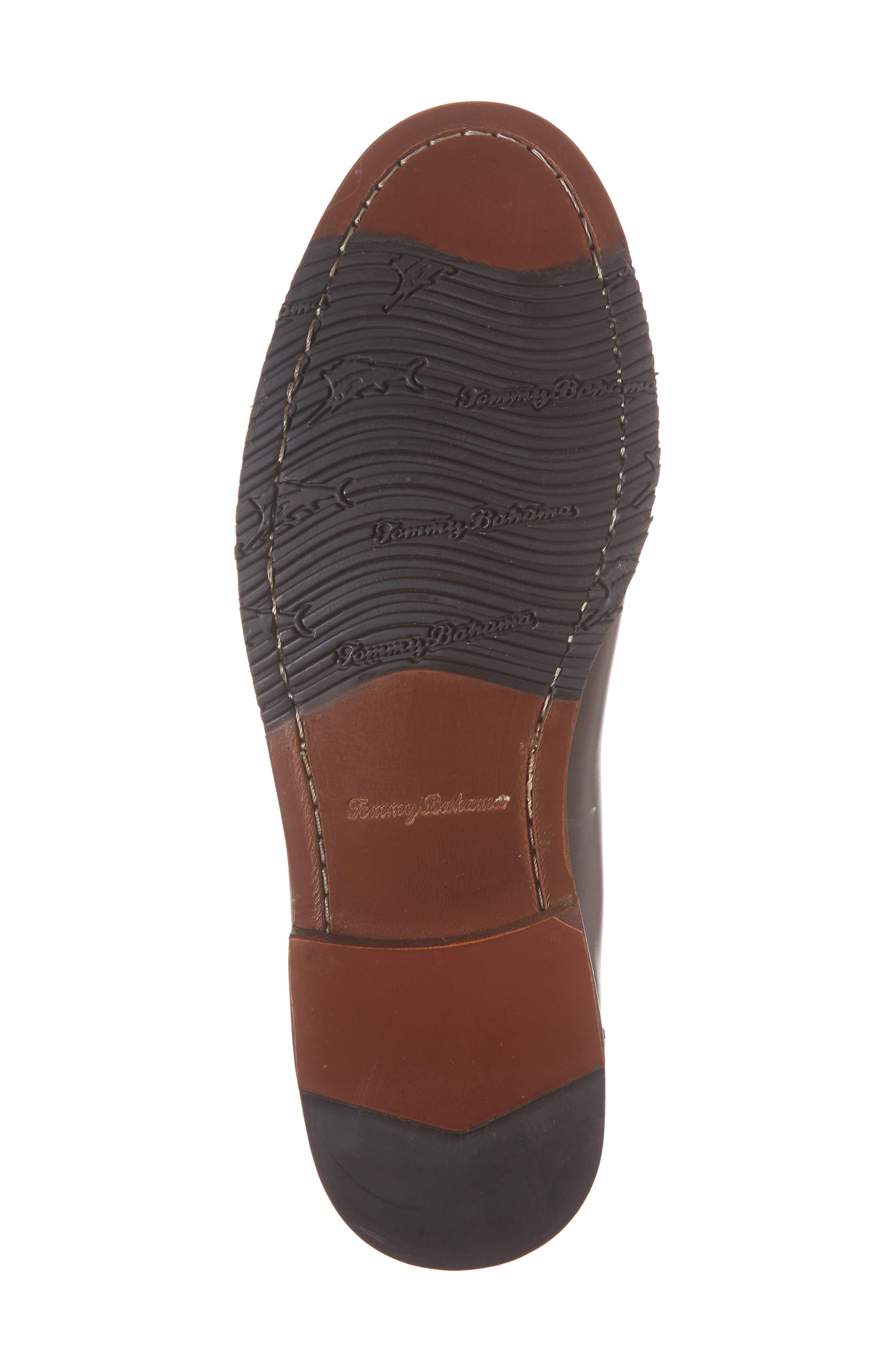Tasslington Loafer,                             Alternate thumbnail 4, color,                             Dark Brown Leather