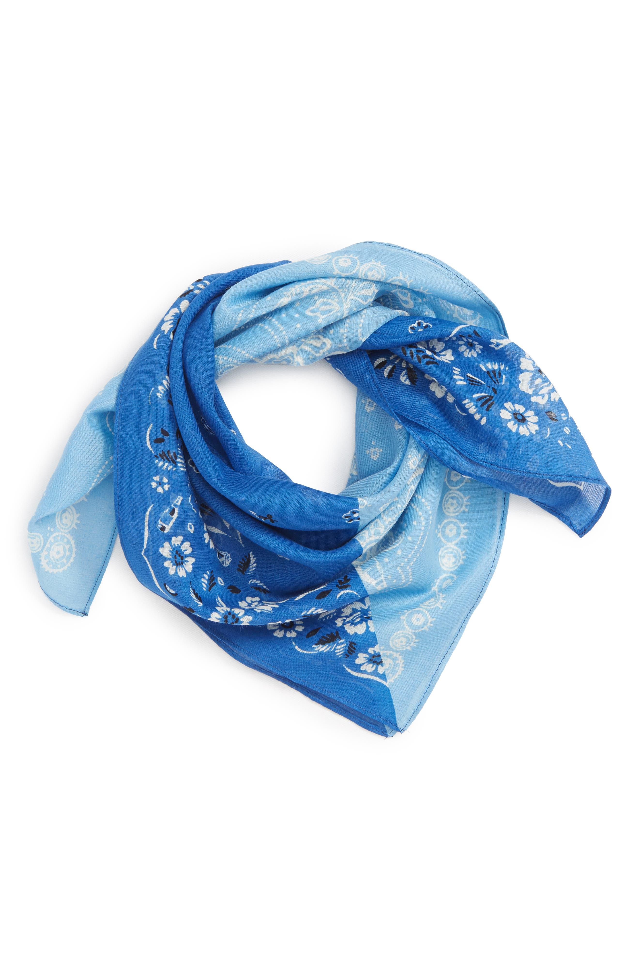 Simons Sky blue tie-scarf elastic 5YjLRcU