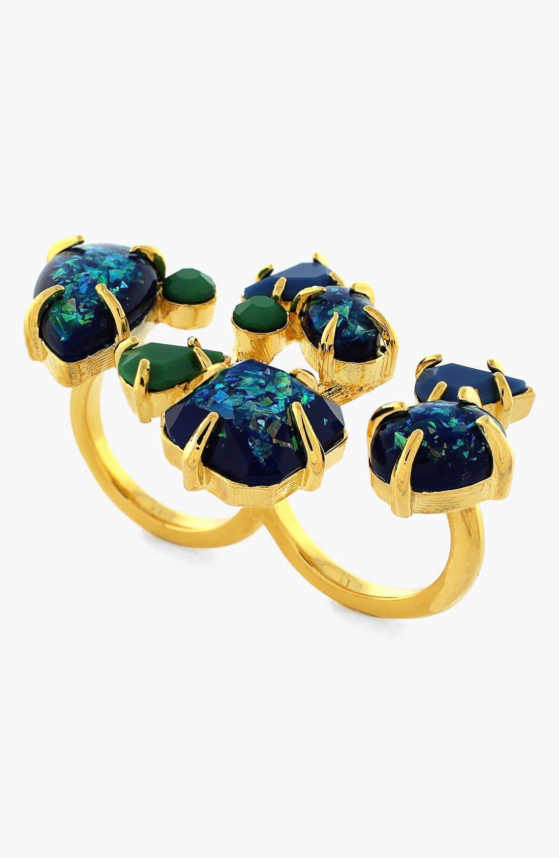Alternate Image 1 Selected - Vince Camuto Stone Cluster Two-Finger Ring