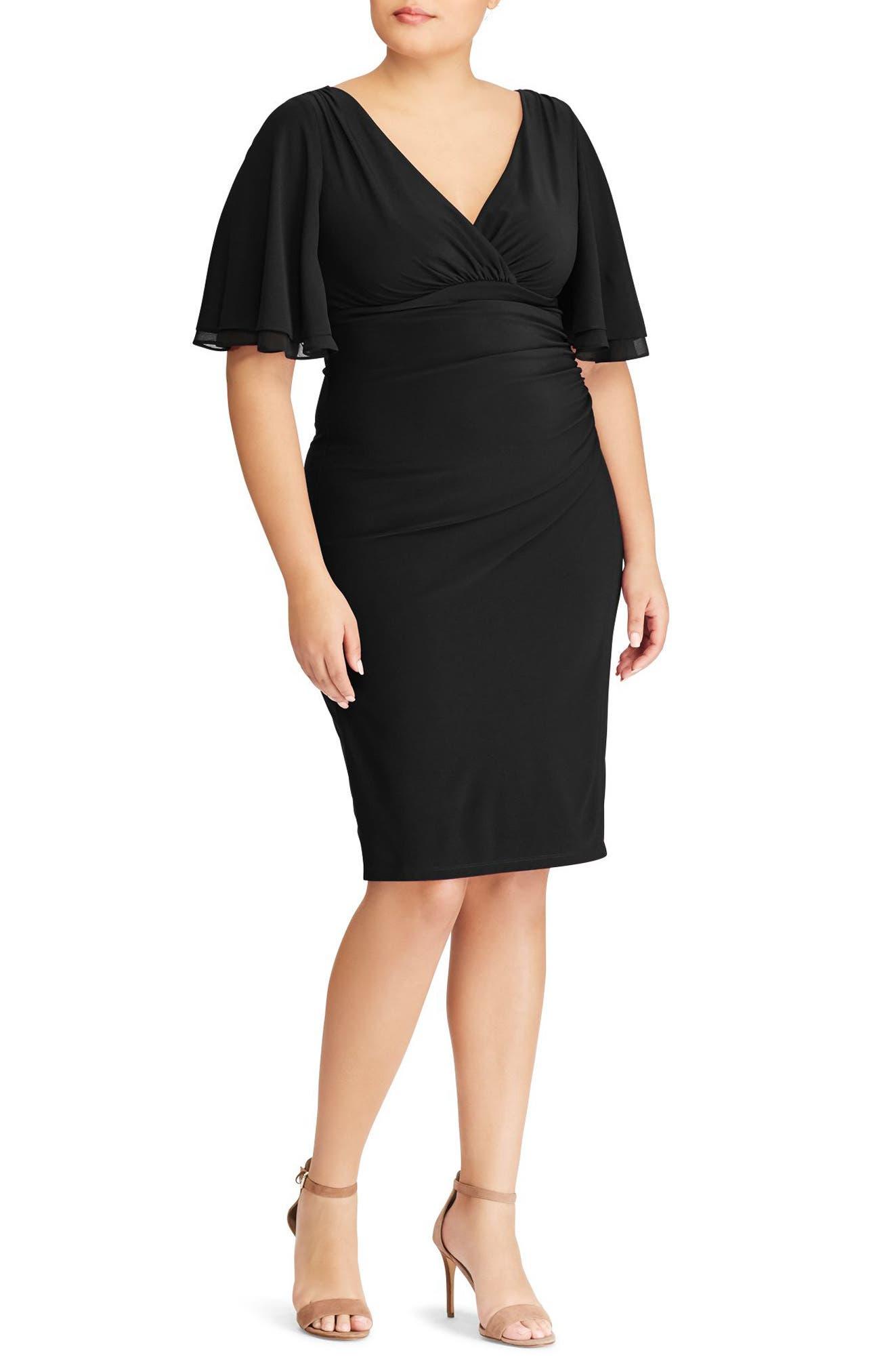 Lauren Ralph Lauren Flutter Sleeve (Plus Size)