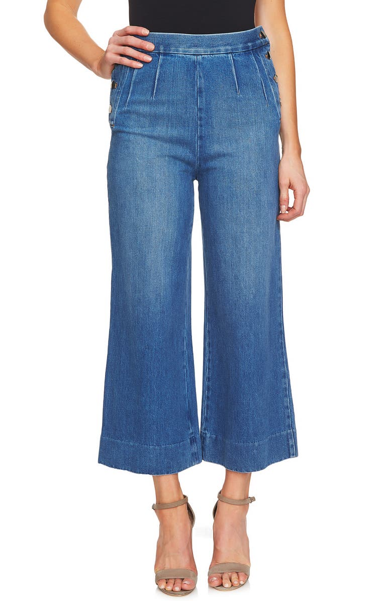 Wide Leg Crop Denim Pants