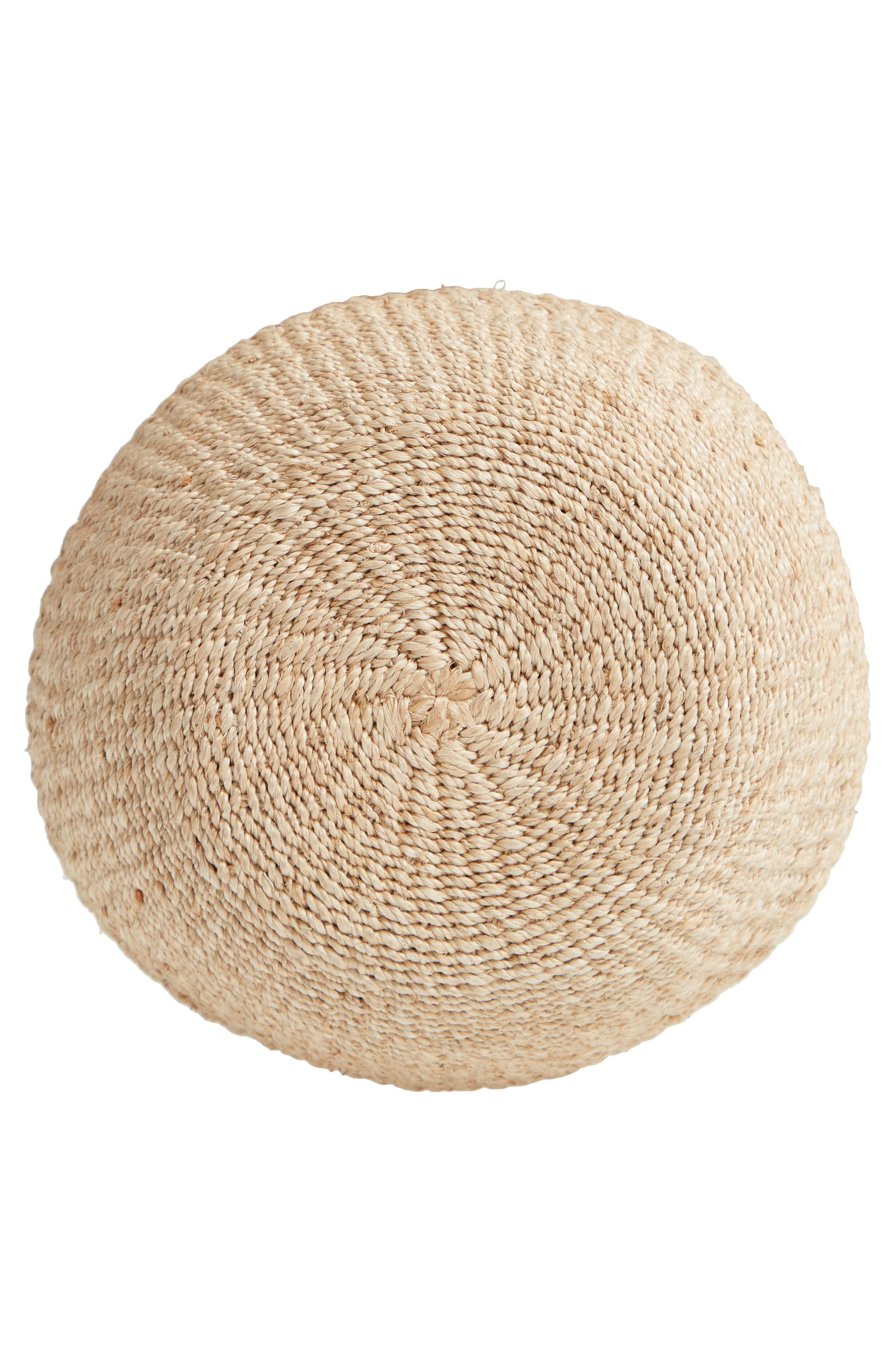 Pot de Miel Top Handle Straw Basket Bag,                             Alternate thumbnail 3, color,                             Cream