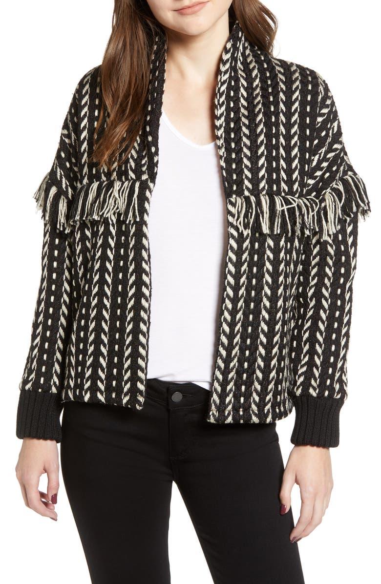 Genesis Textured Fringe Jacket