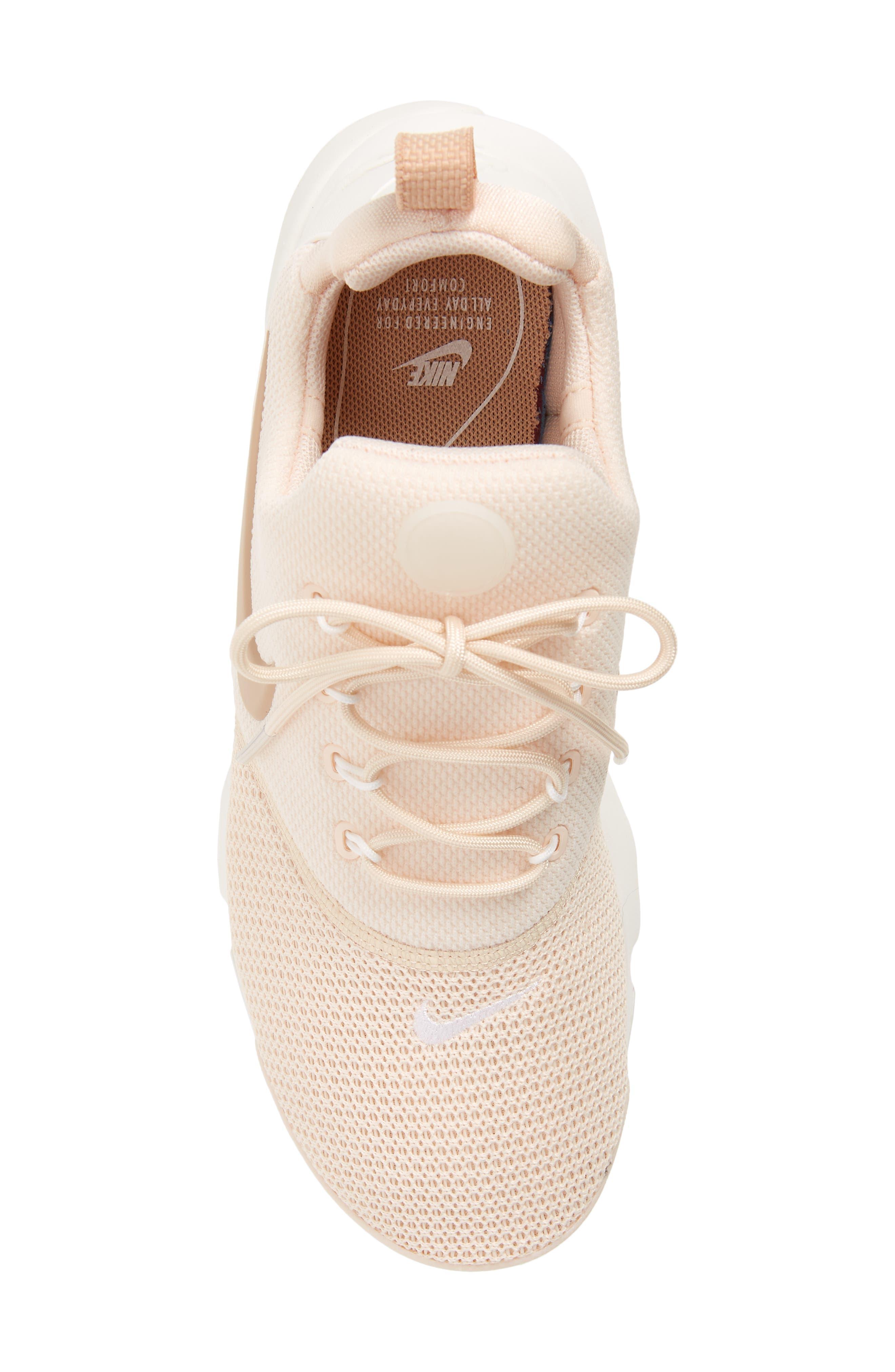 Presto Fly Sneaker,                             Alternate thumbnail 4, color,                             Guava Ice/ Beige/ Summit White