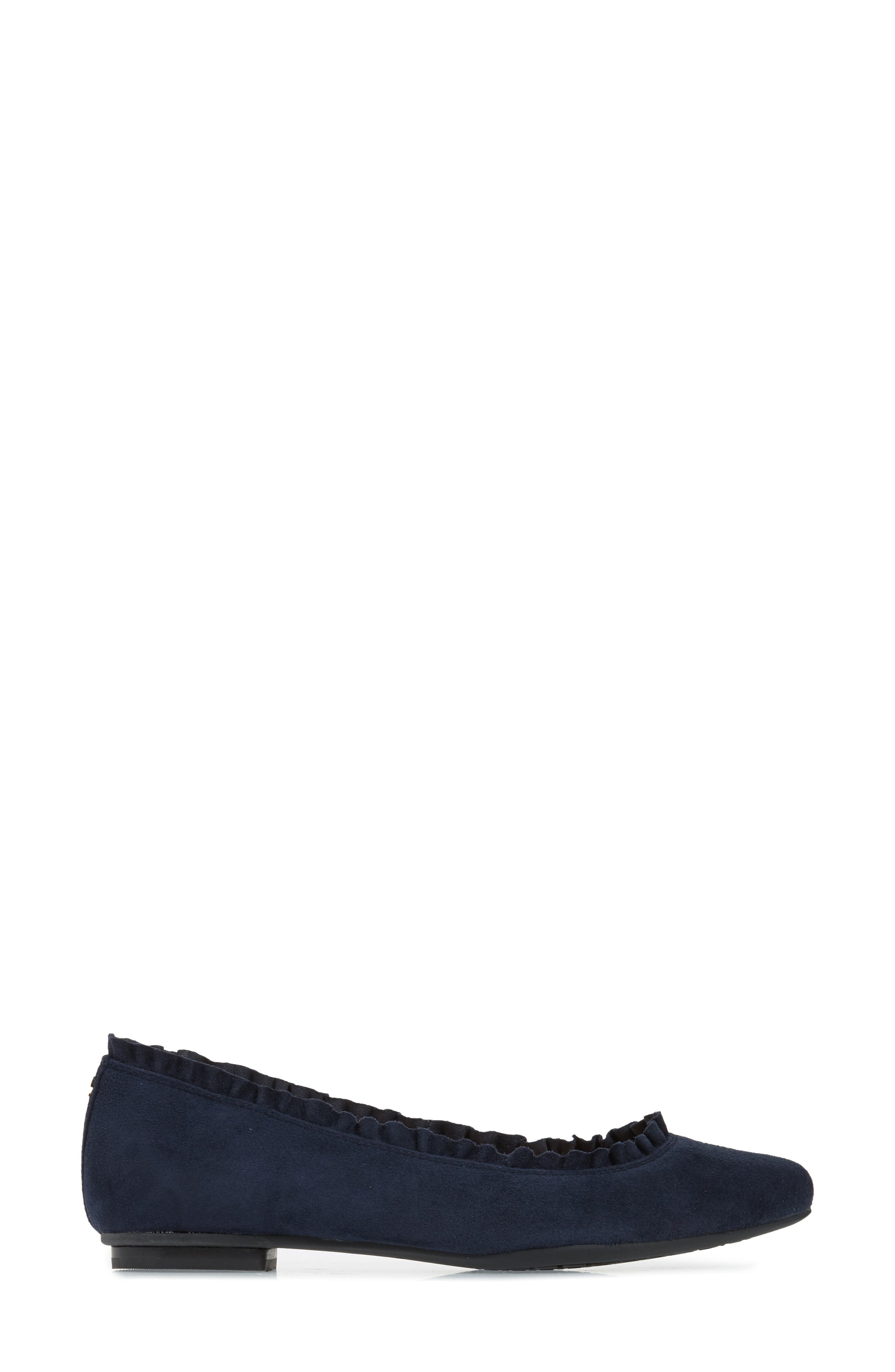 nicole flat,                             Alternate thumbnail 6, color,                             Navy