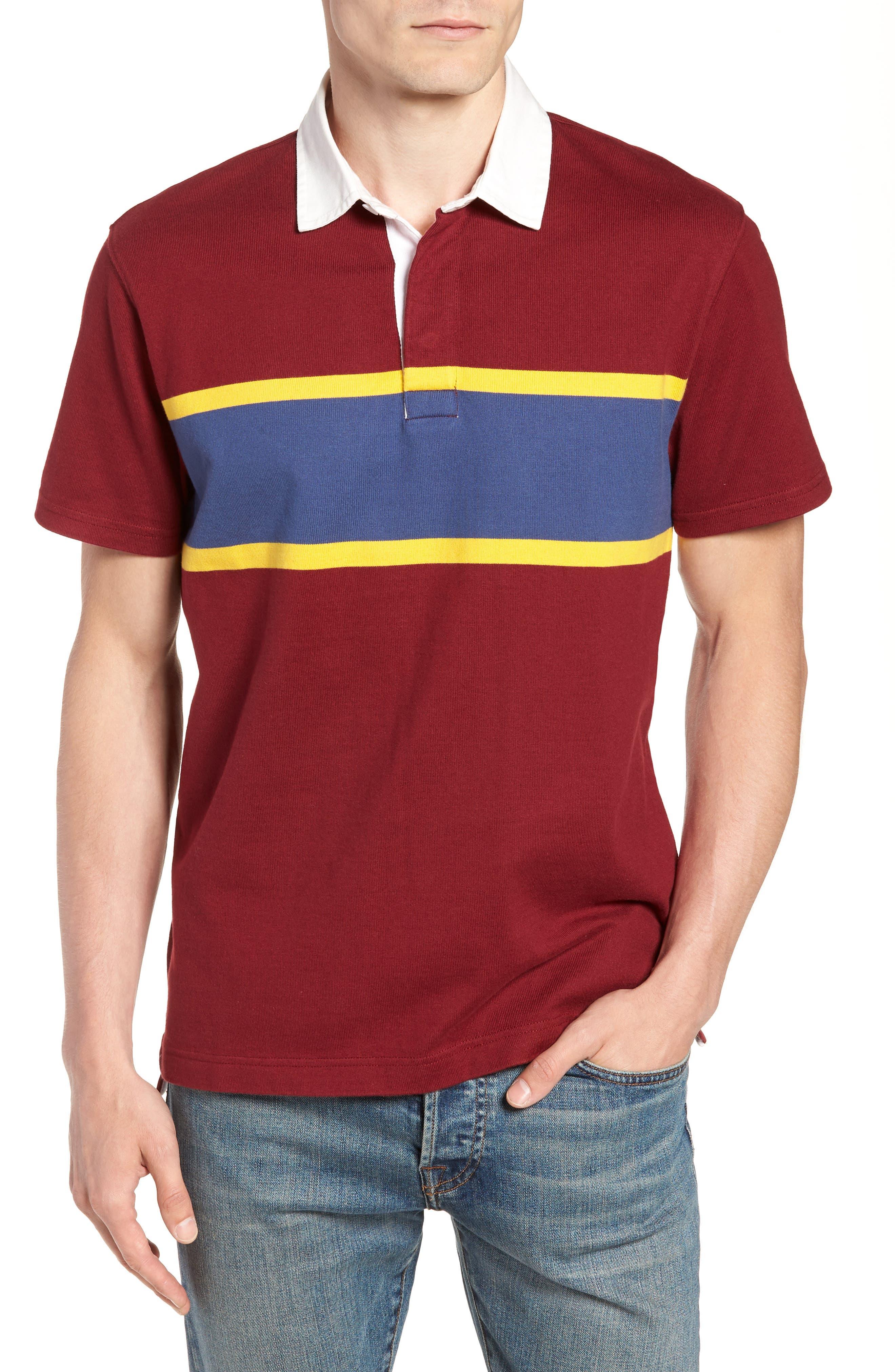 1984 Rugby Shirt,                         Main,                         color, Mahogany