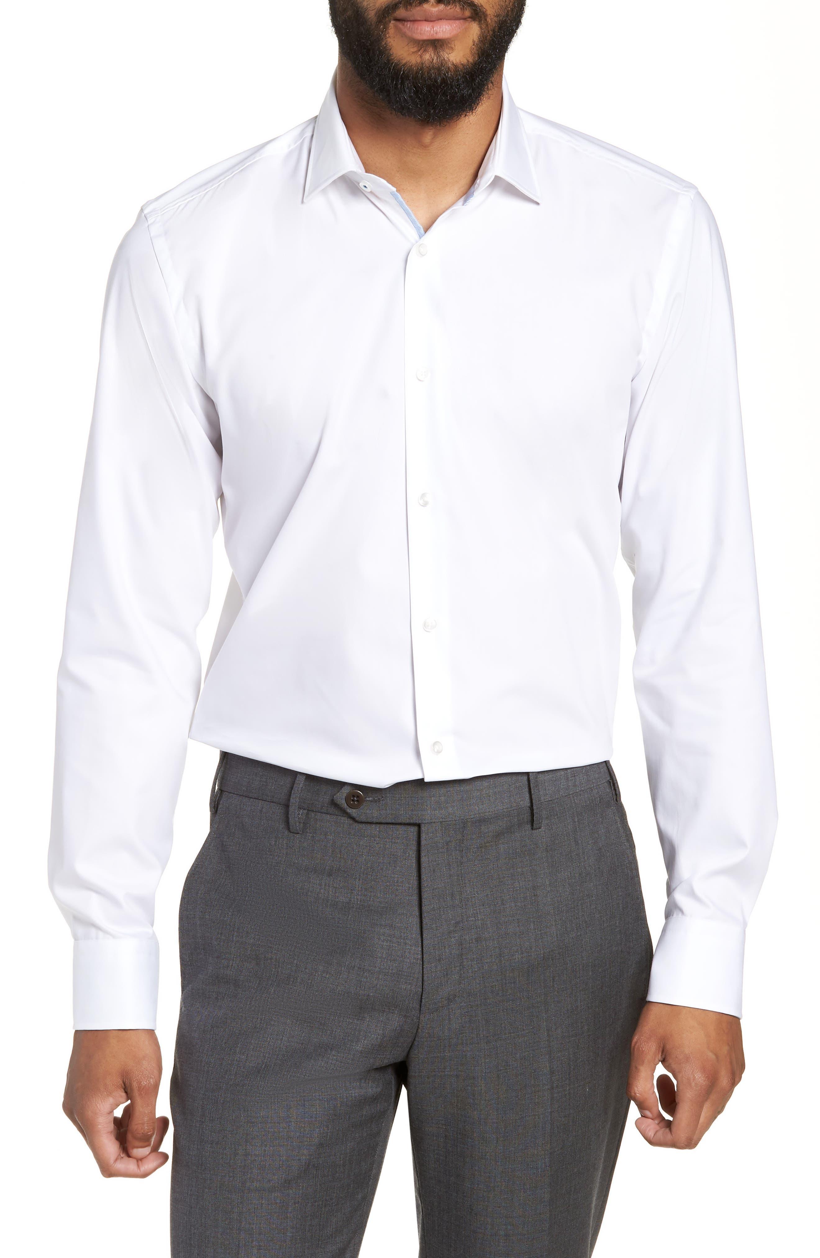 Jesse Slim Fit Easy Iron Dress Shirt,                         Main,                         color, White