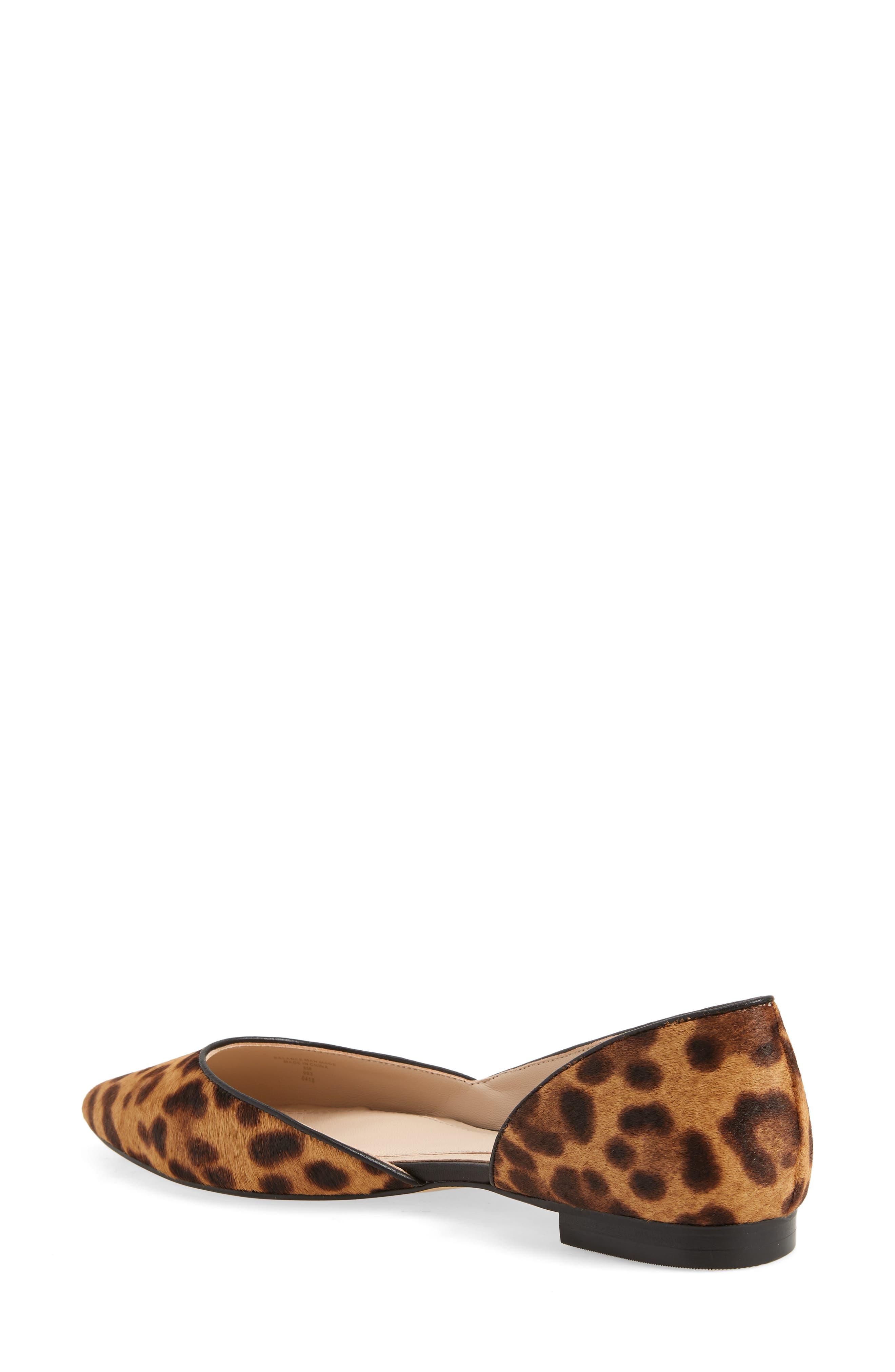 Sunny Genuine Calf Hair Flat,                             Alternate thumbnail 2, color,                             Leopard Calf Hair