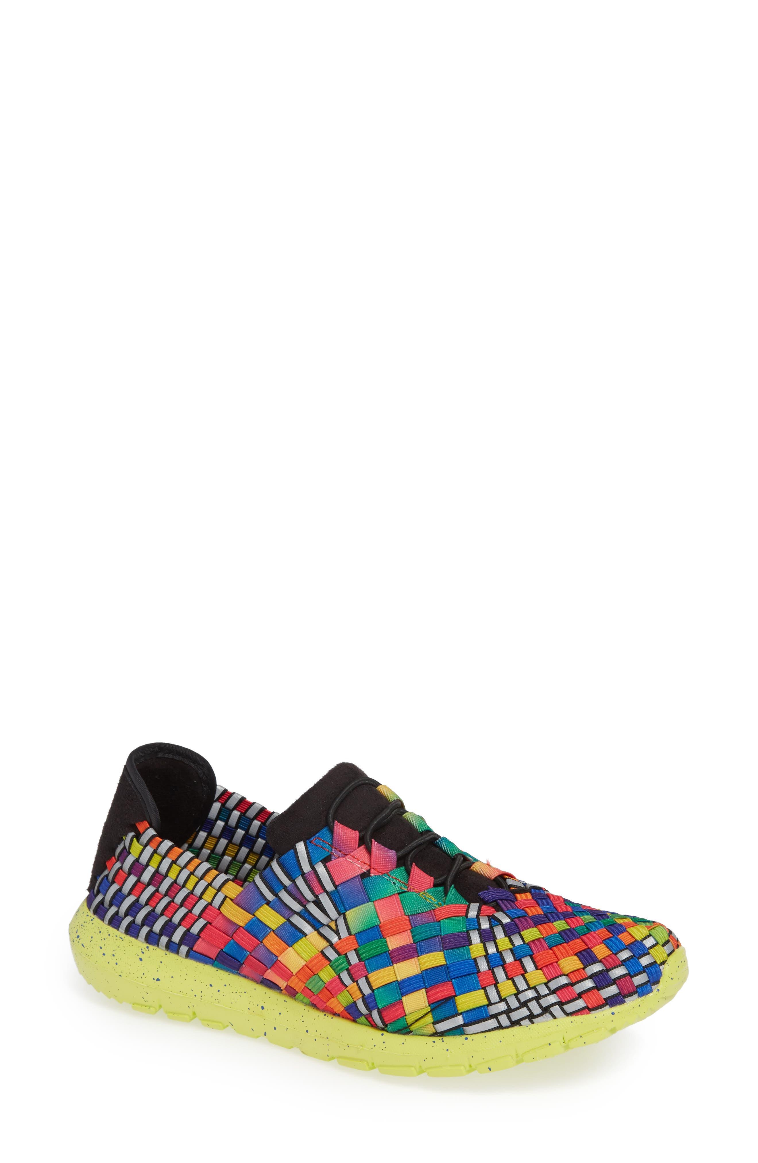 Runners Victoria Sneaker,                             Main thumbnail 1, color,                             Black Multi Reflective Fabric