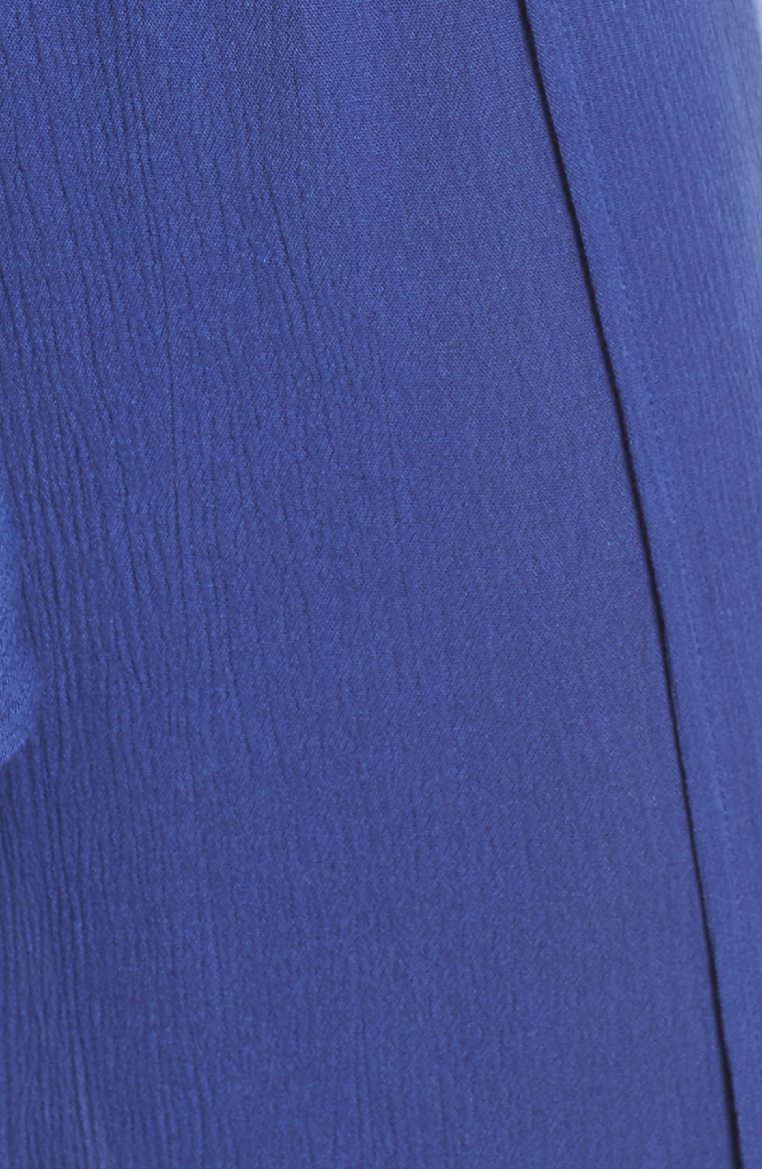 Modern Muse Cover-Up Flyaway Pants,                             Alternate thumbnail 4, color,                             Blue Topaz