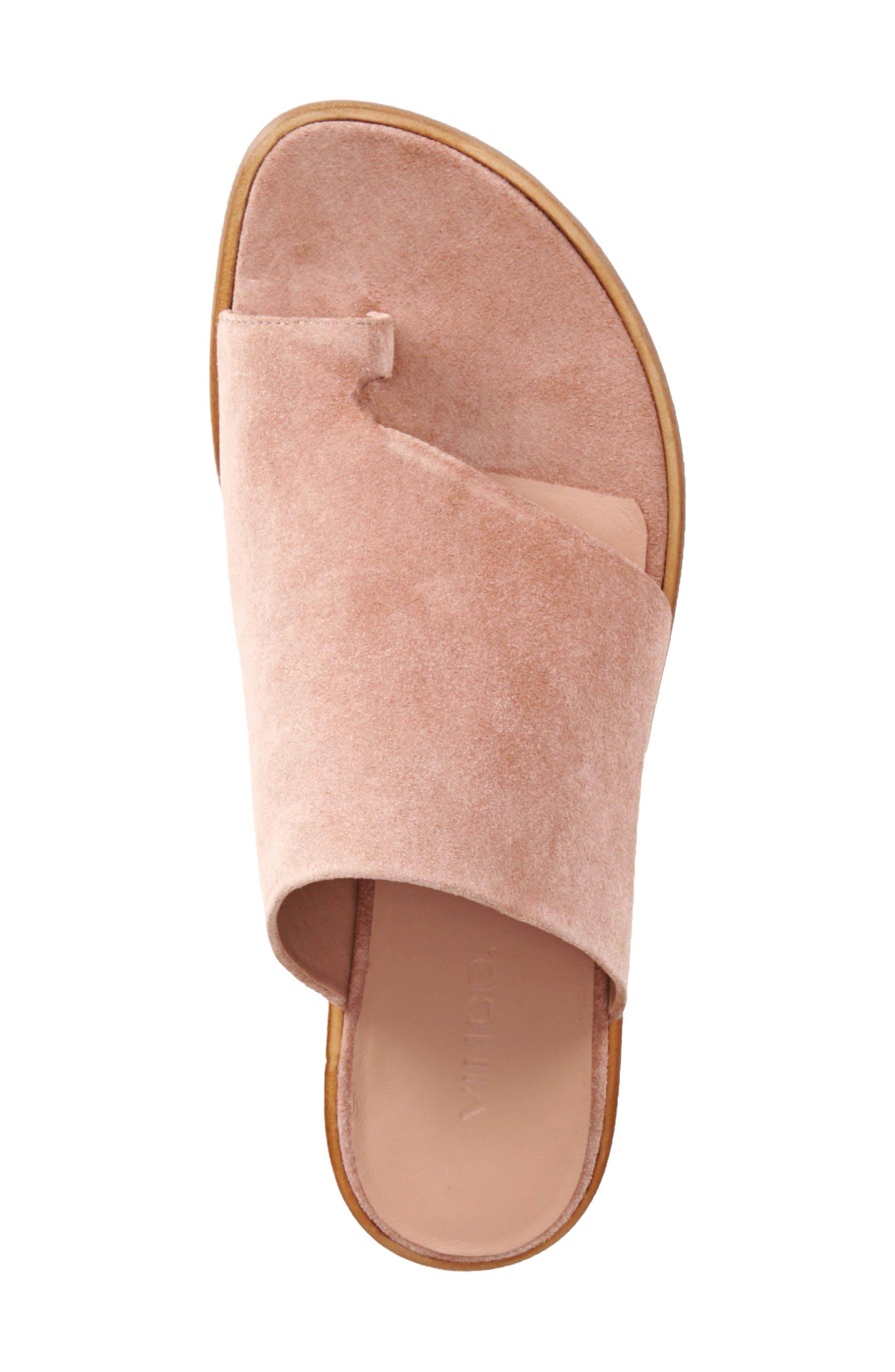 Edris Toe Loop Sandal,                             Alternate thumbnail 3, color,                             Blush