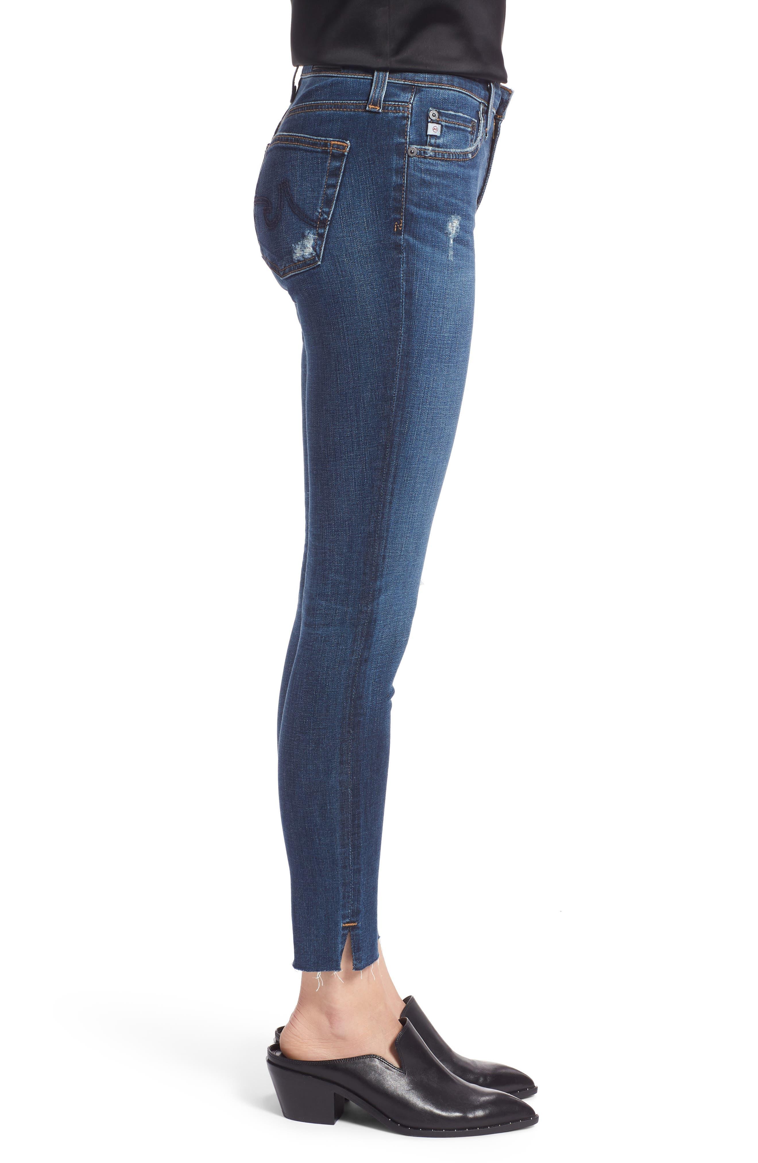 The Legging Ripped Ankle Skinny Jeans,                             Alternate thumbnail 3, color,                             04 Years Lucid Quartz