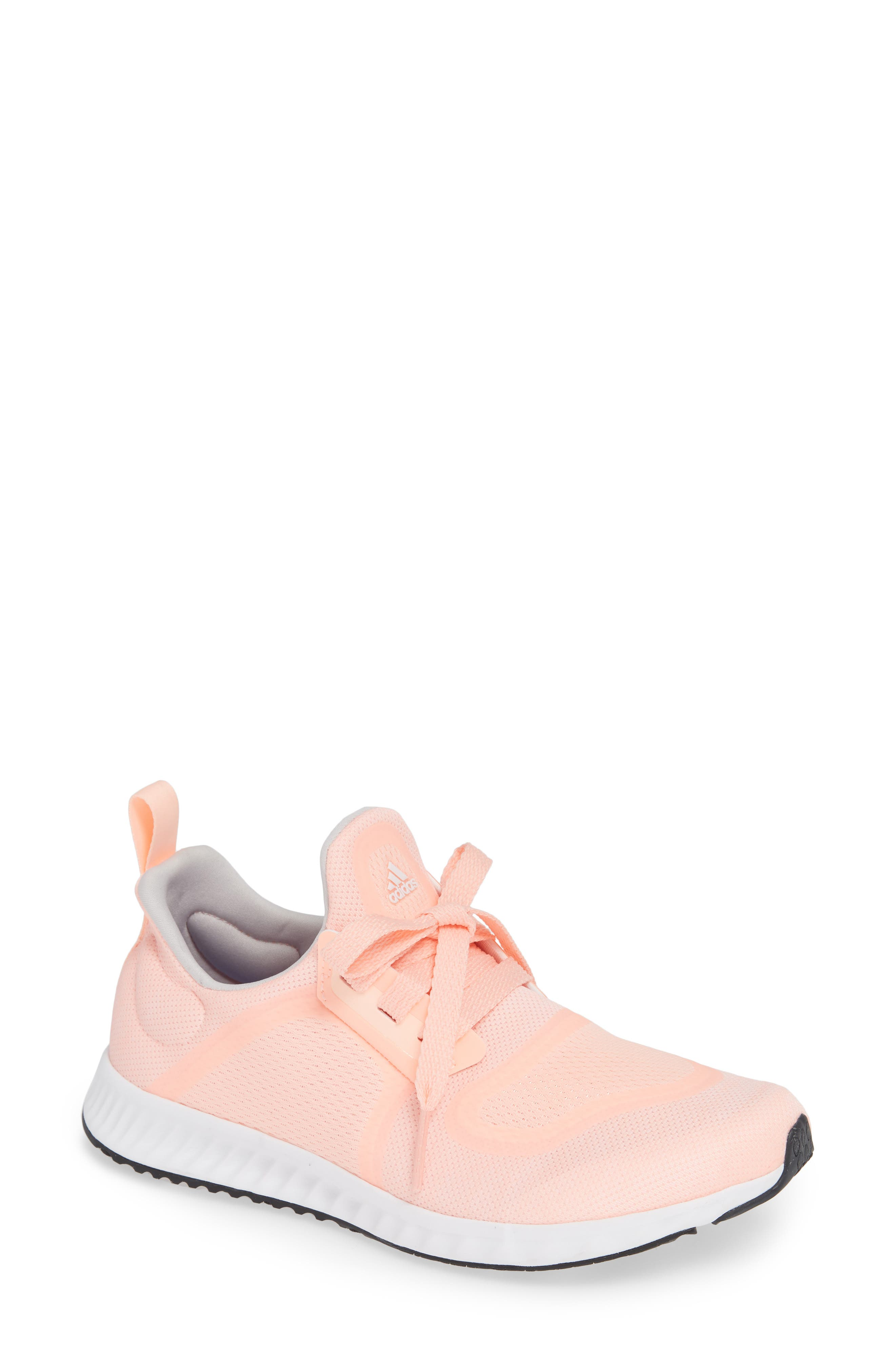 Edge Lux Clima Running Shoe,                             Main thumbnail 1, color,                             Clear Orange/ White