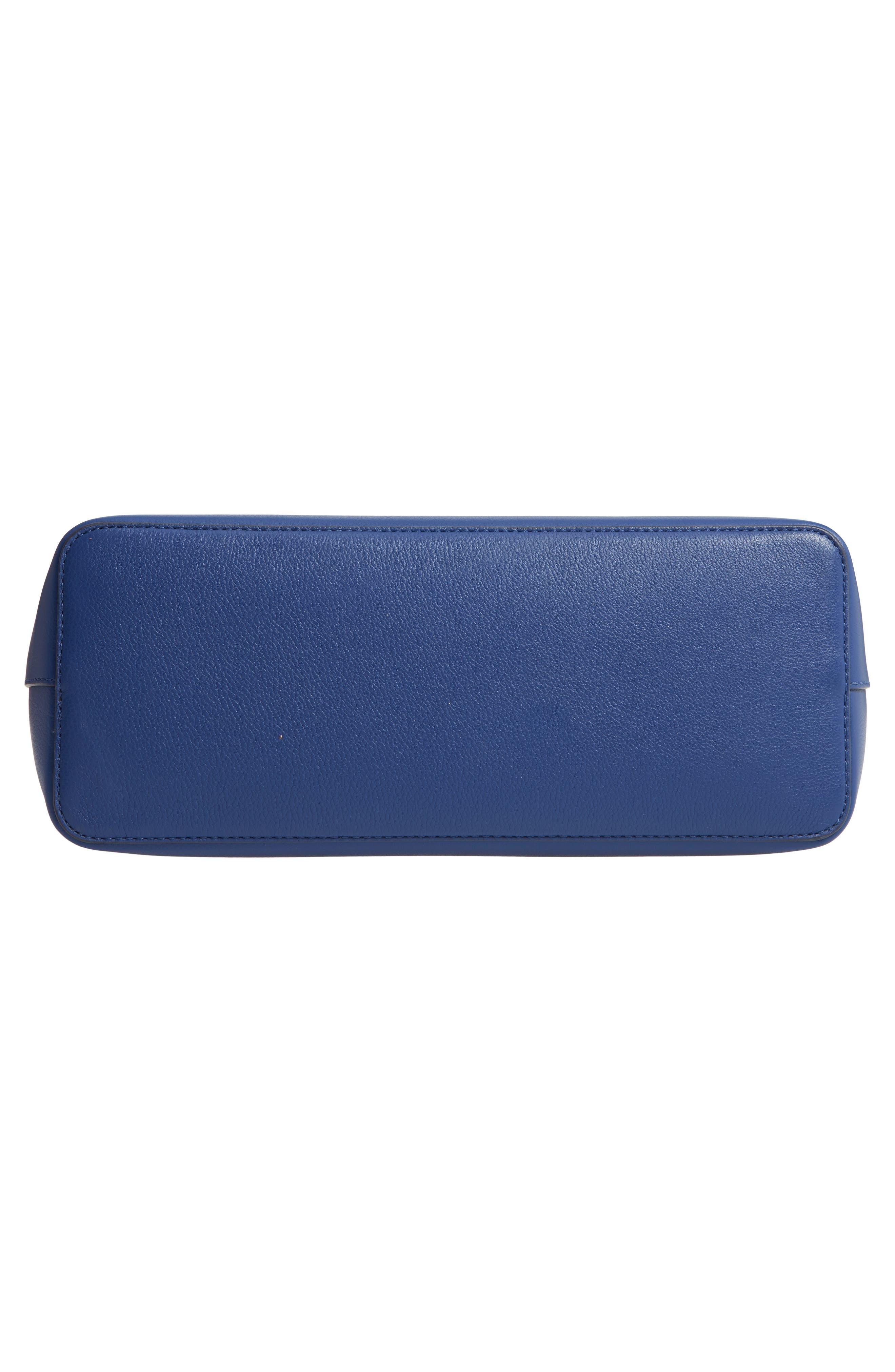 McGraw Leather Laptop Tote,                             Alternate thumbnail 4, color,                             Bright Indigo