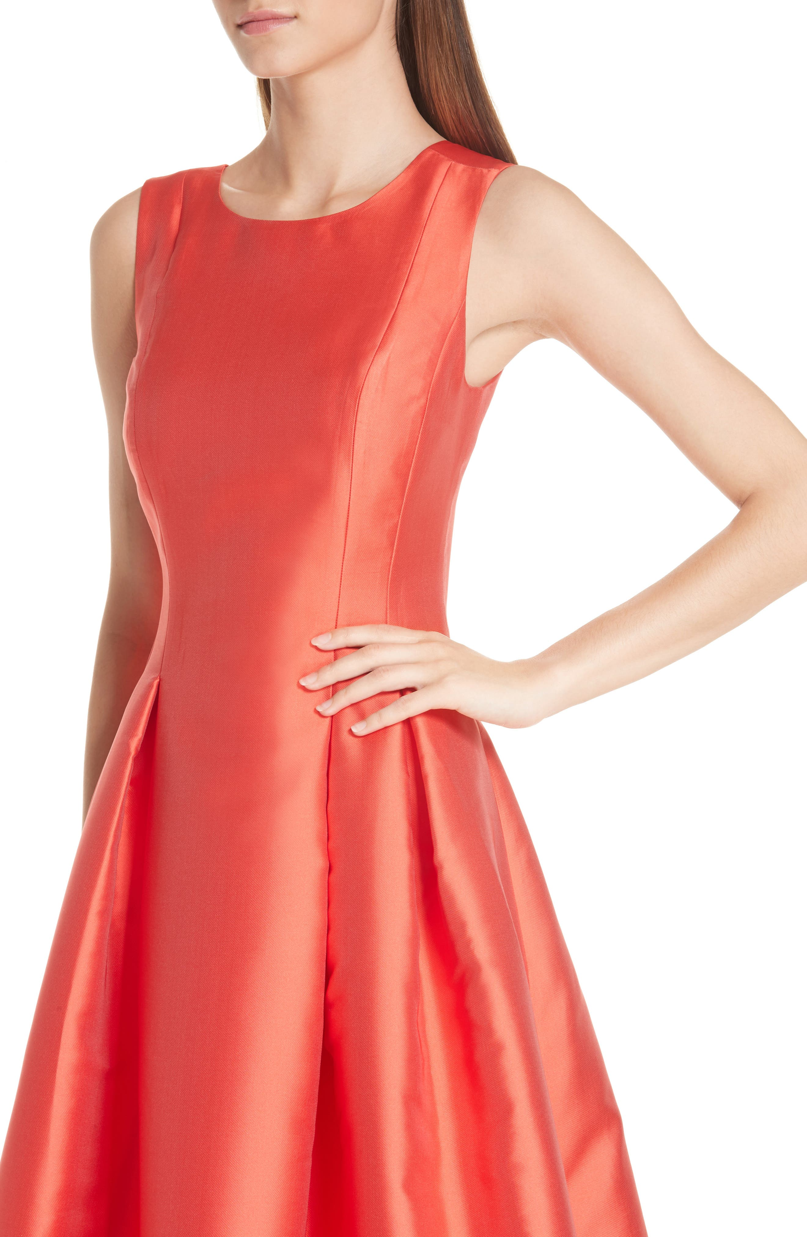 Marmara Ballgown,                             Alternate thumbnail 3, color,                             Coral Red