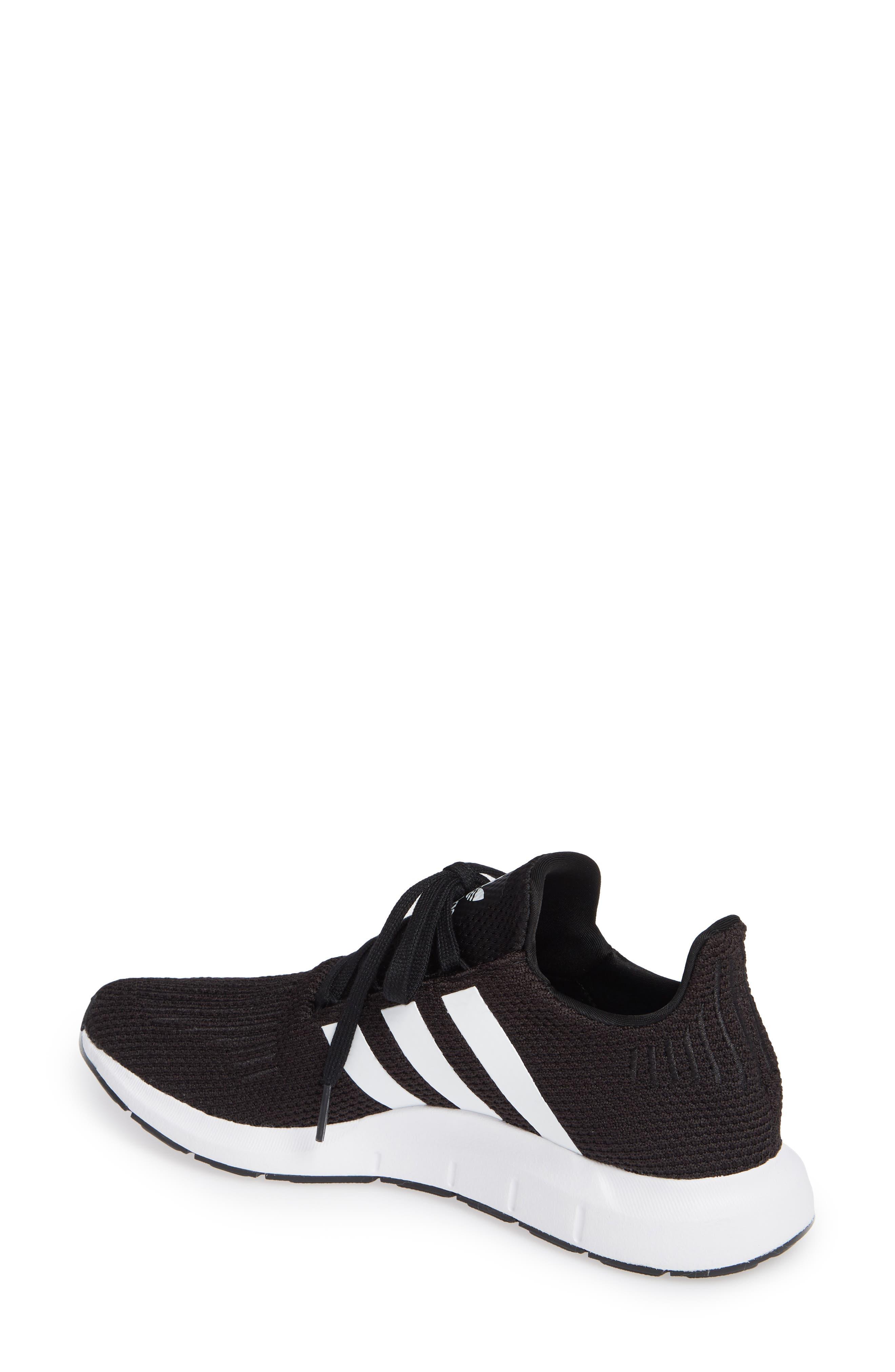 Swift Run Sneaker,                             Alternate thumbnail 2, color,                             Black/ White