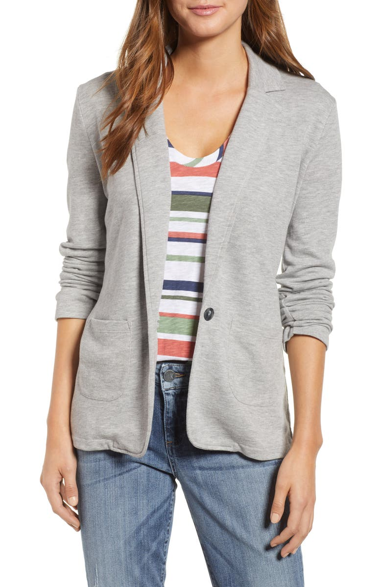 Two Pocket Knit Blazer (Regular & Petite) | Nordstrom