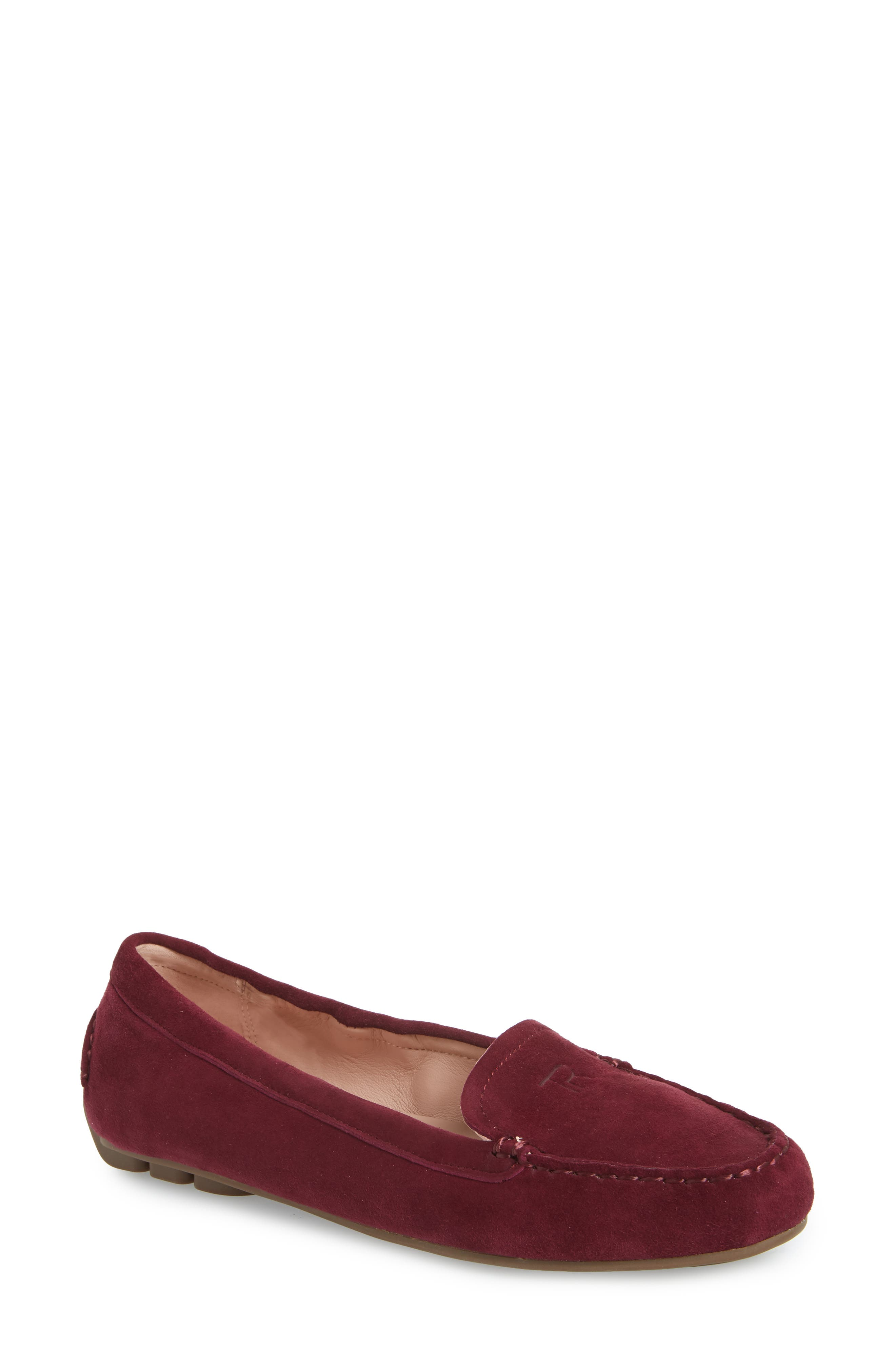 Kristine Loafer,                             Main thumbnail 1, color,                             Burgundy Suede