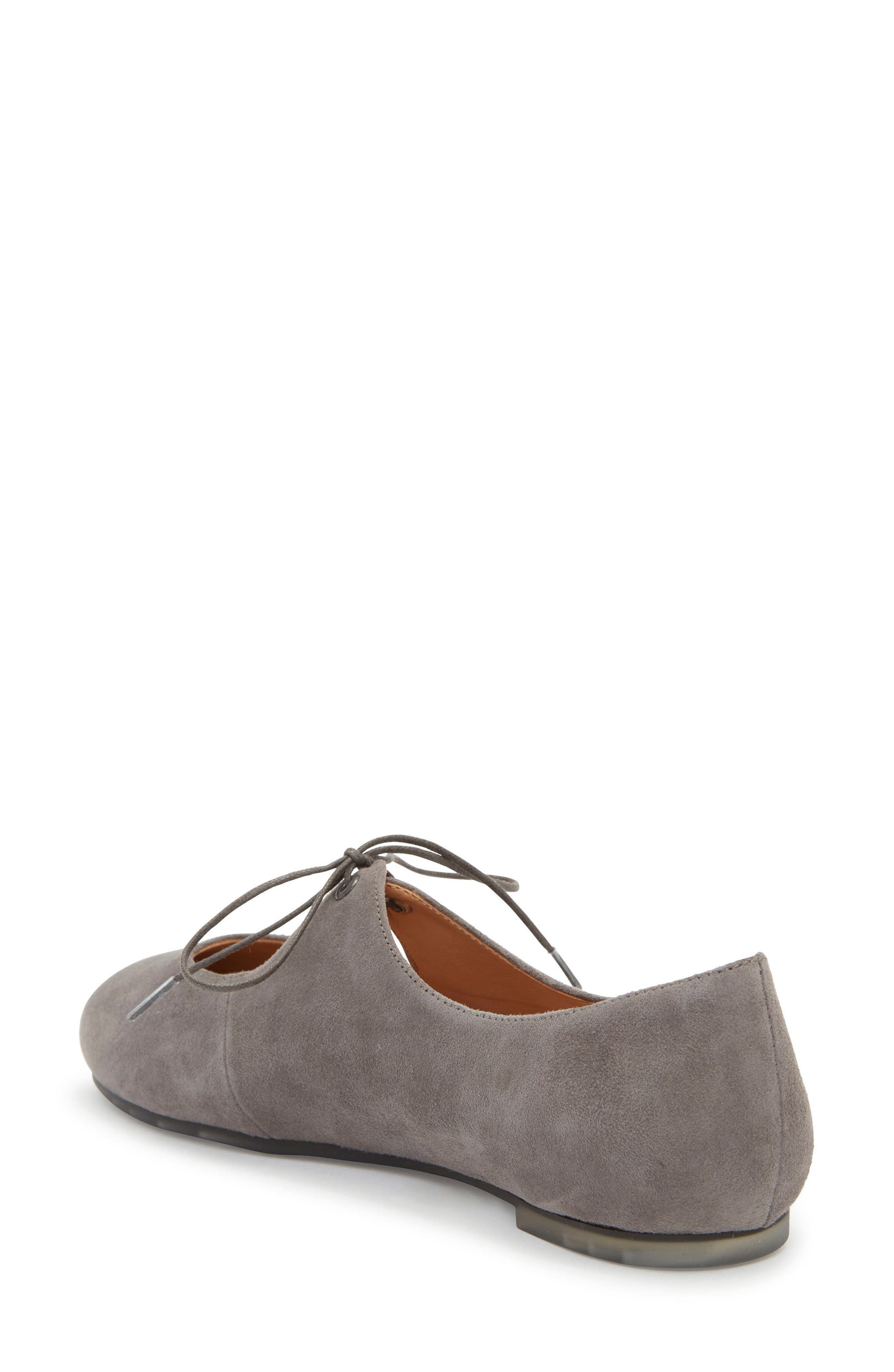 Cacey Mary Jane Flat,                             Alternate thumbnail 2, color,                             Charcoal Suede