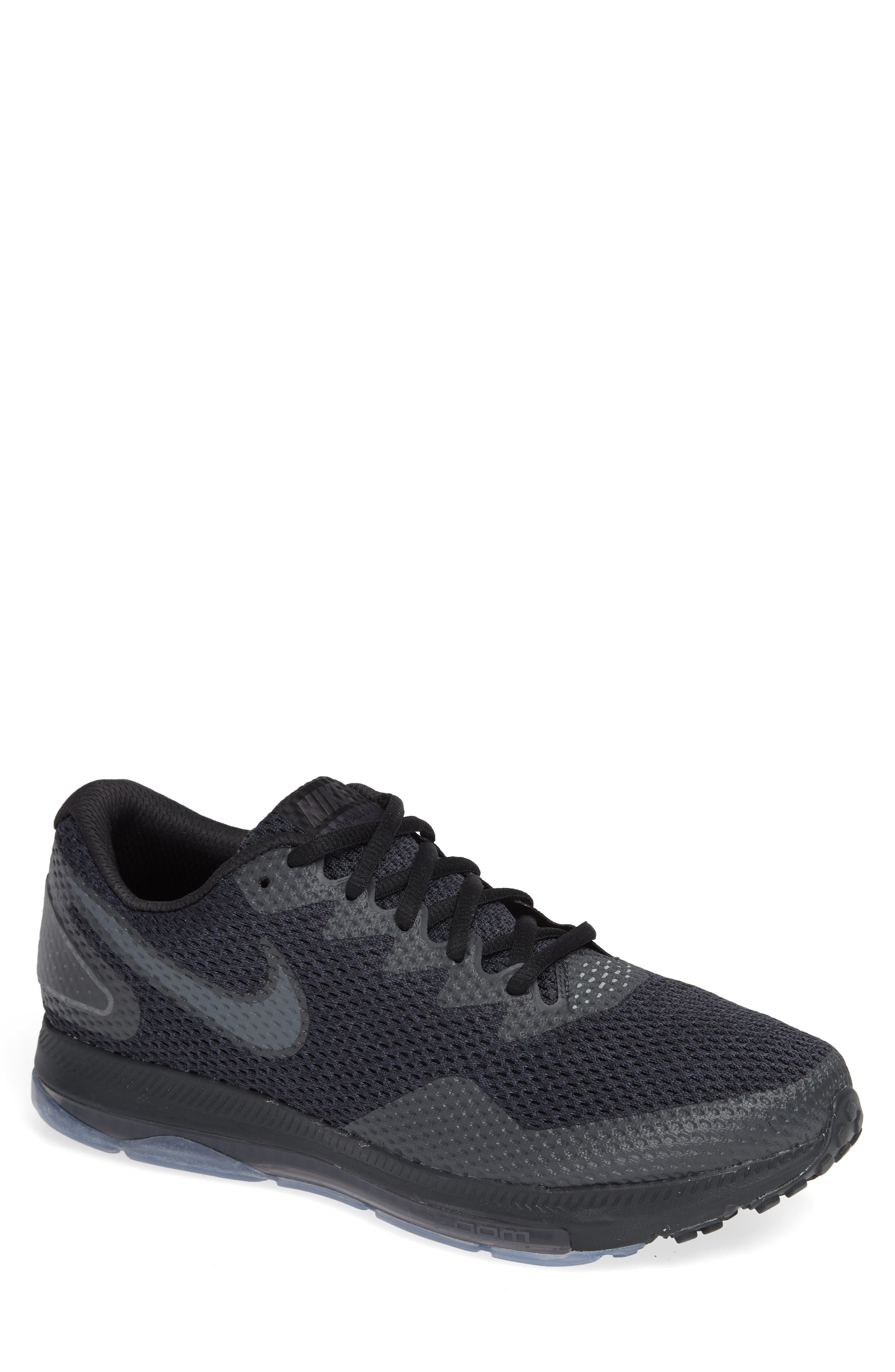 Zoom All Out Low 2 Running Shoe,                         Main,                         color, Black/ Dark Grey/ Anthracite