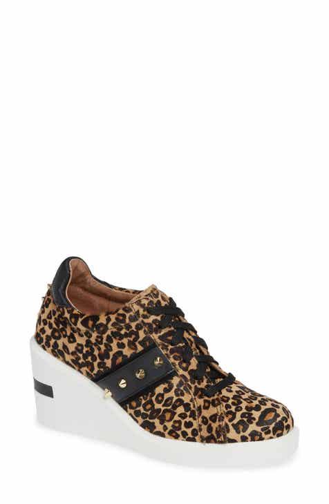 505c2406062 Linea Paolo Kesha II Studded Genuine Calf Hair Wedge Sneaker (Women)