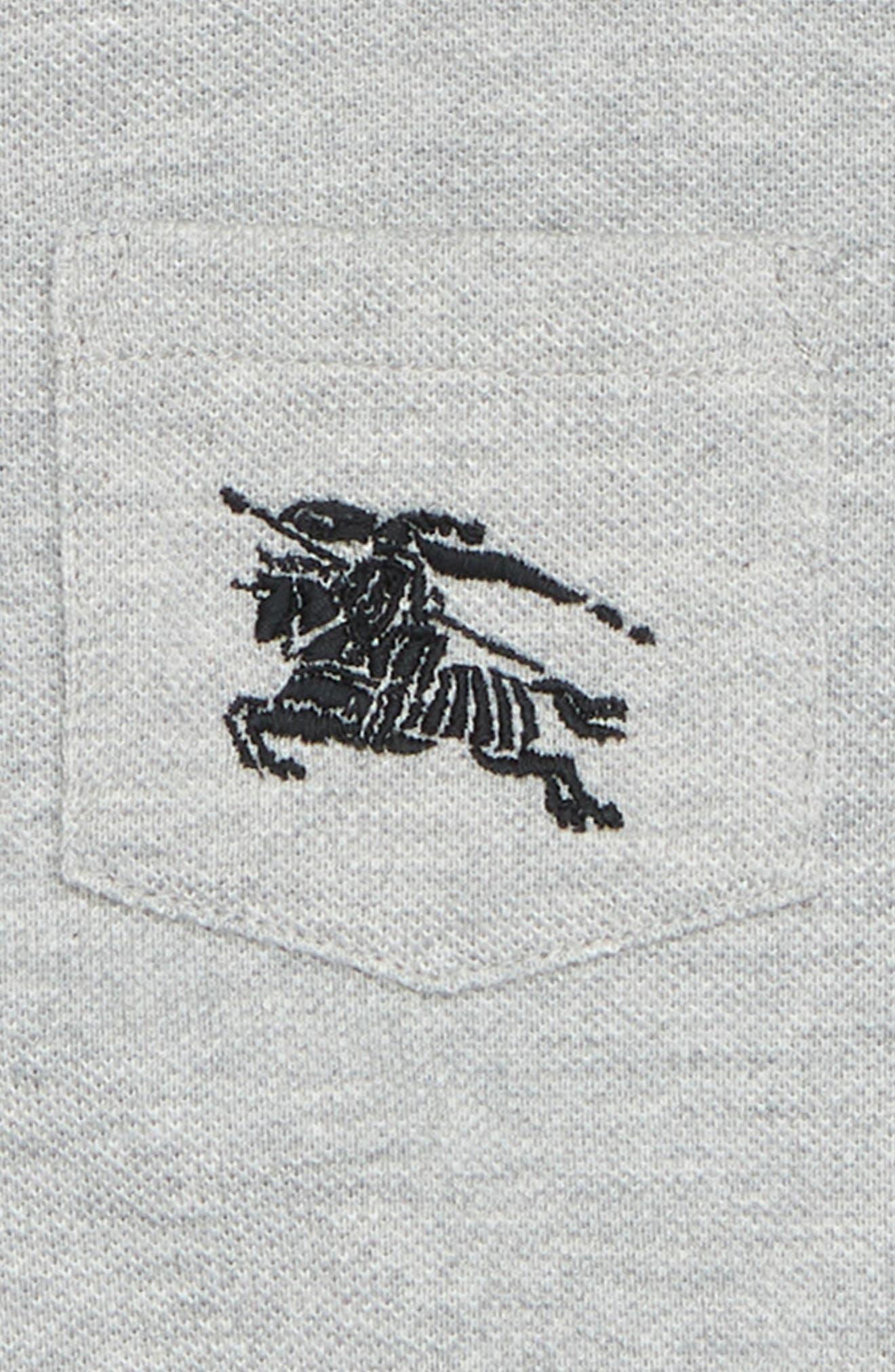 Mini Noel Polo,                             Alternate thumbnail 2, color,                             Grey Melange