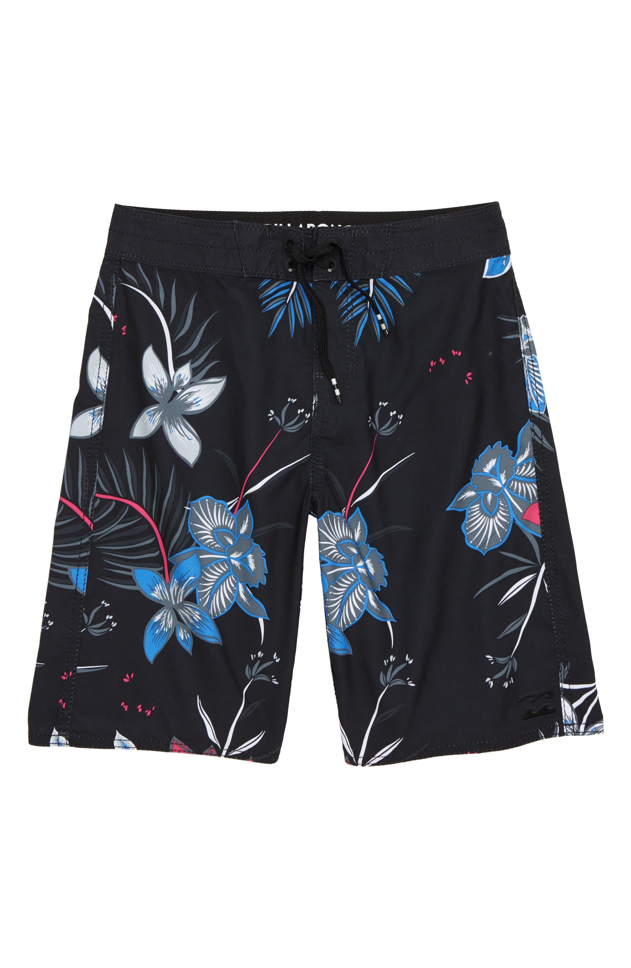 Sundays OG Board Shorts,                             Main thumbnail 1, color,                             Black/ White