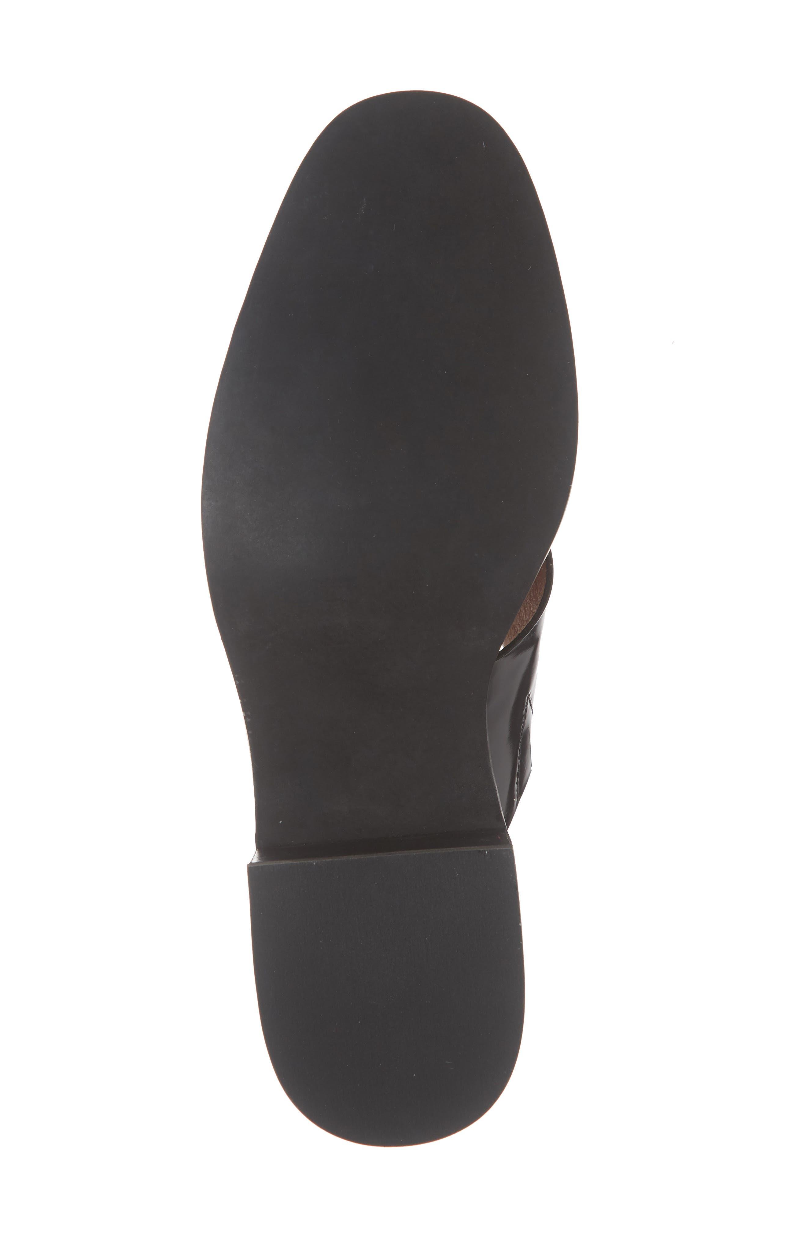 'Melina' T-Strap Shoe,                             Alternate thumbnail 3, color,                             Black Leather