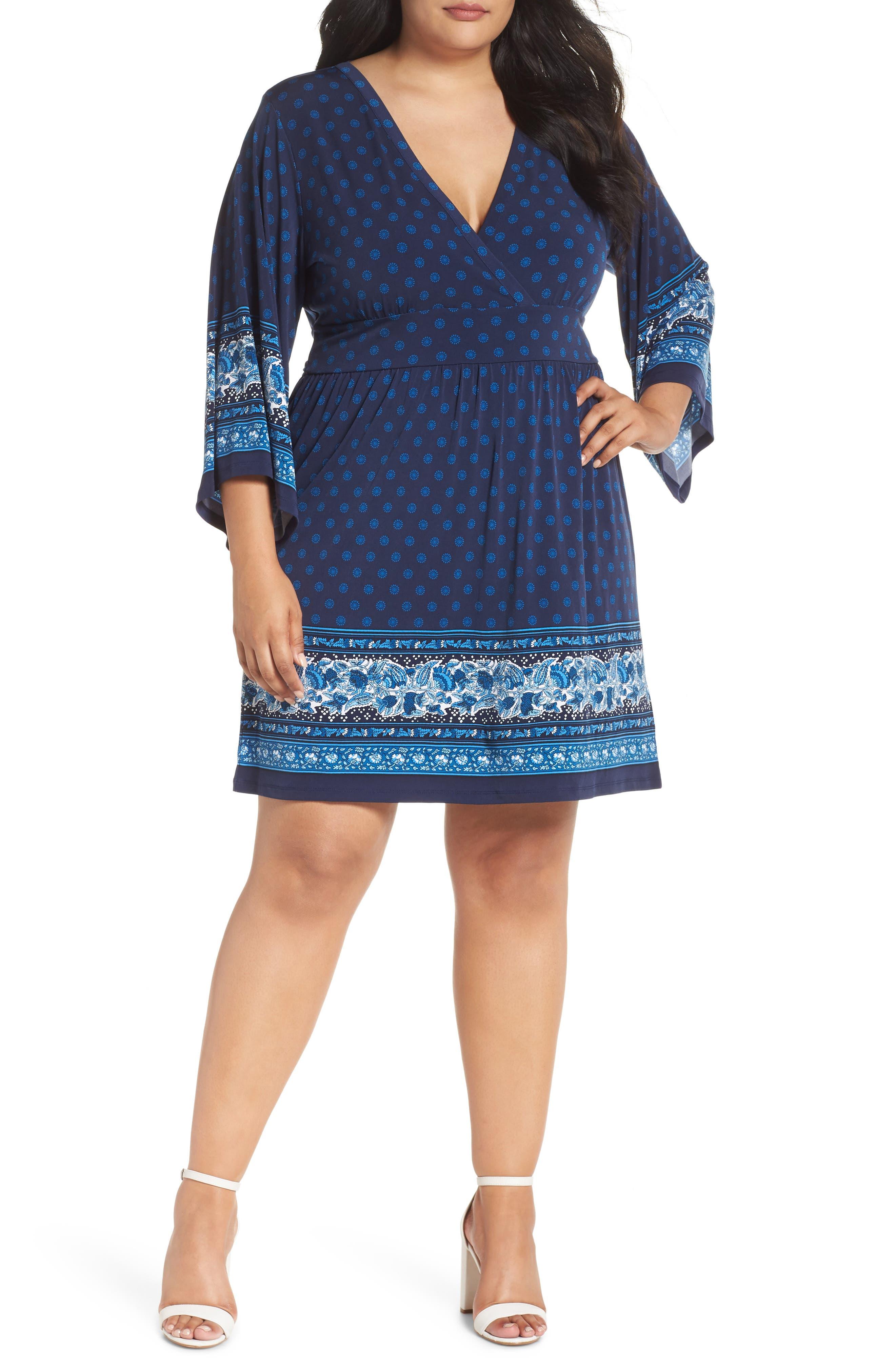 SUNNY PAISLEY BORDER DRESS