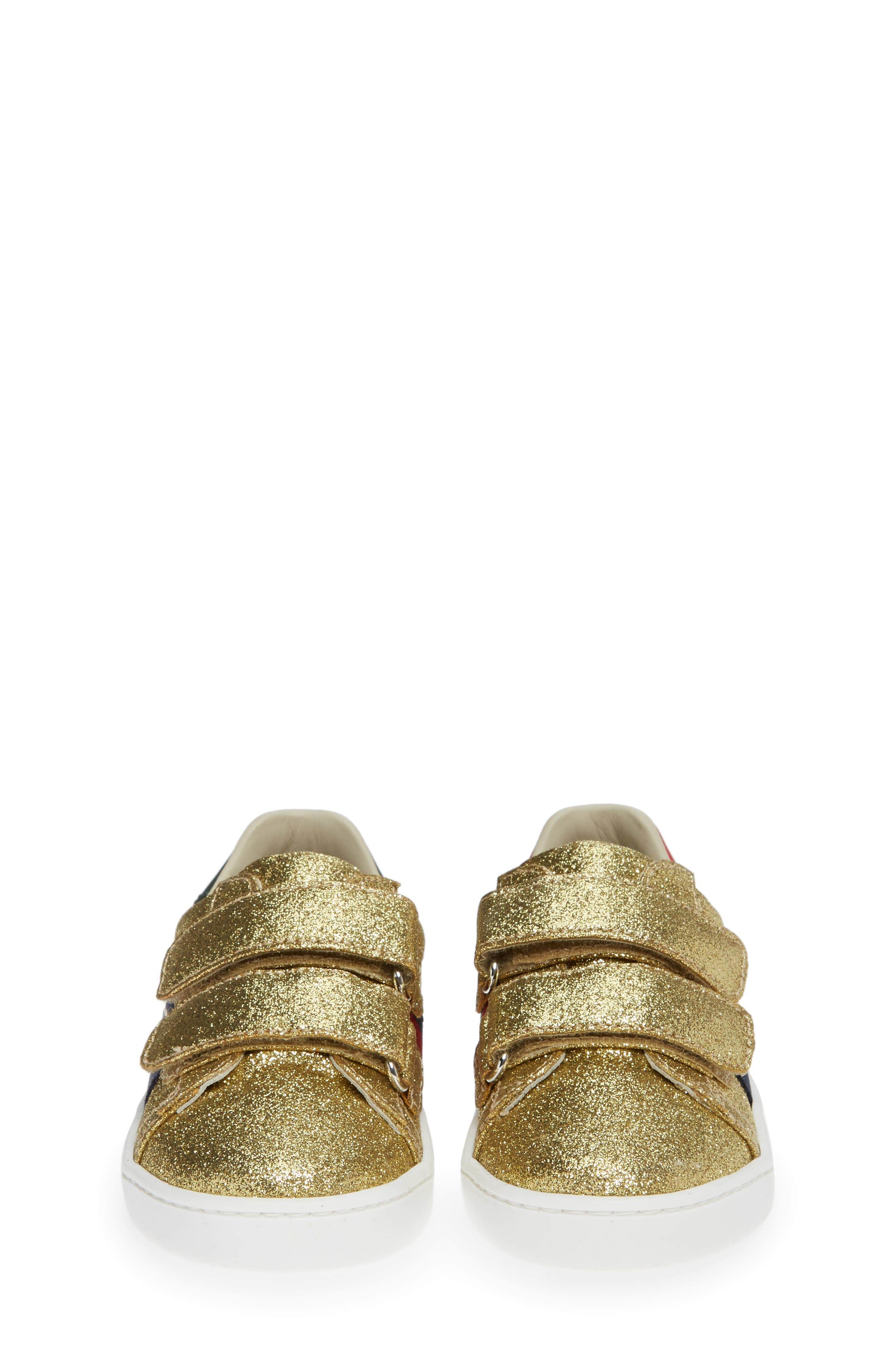 New Ace Sneaker,                             Alternate thumbnail 5, color,                             Metallic Gold