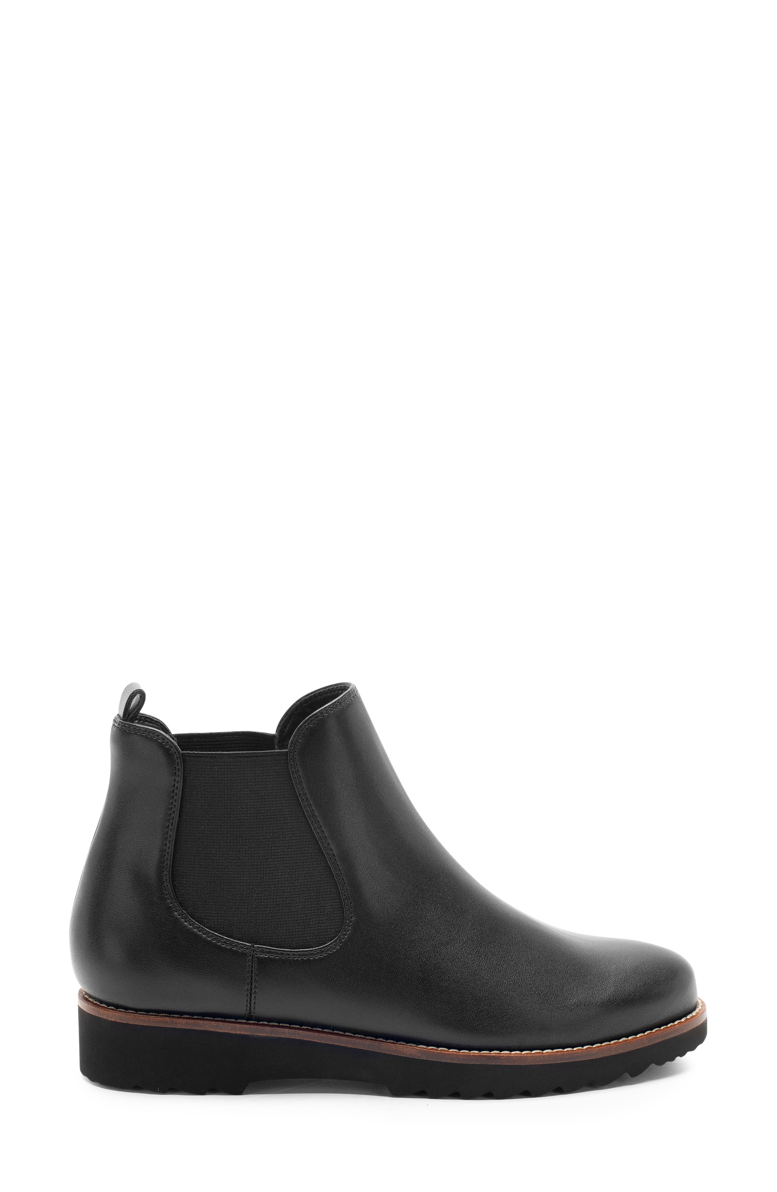 Roman Waterproof Bootie,                             Alternate thumbnail 3, color,                             Black Leather