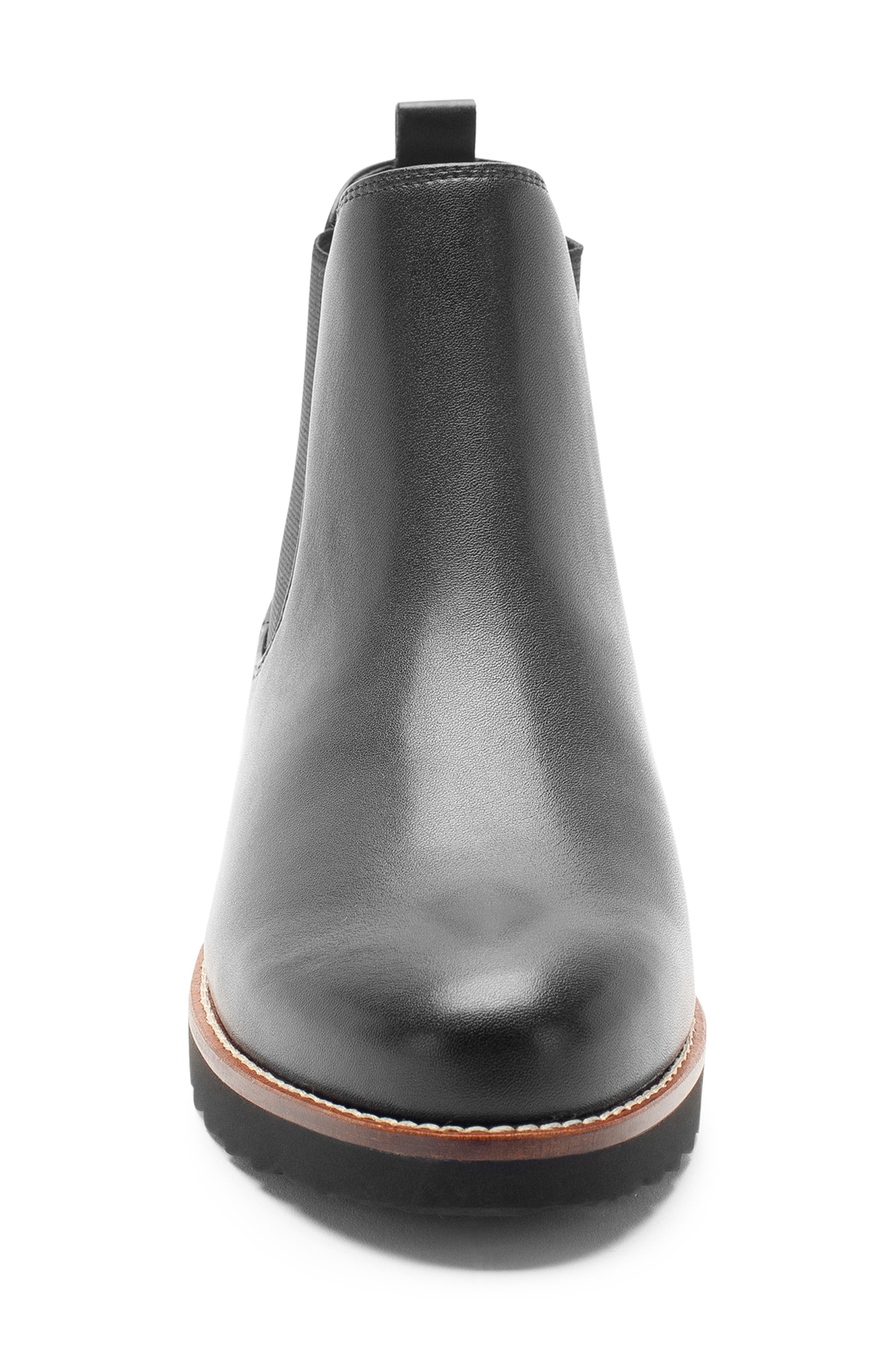 Roman Waterproof Bootie,                             Alternate thumbnail 6, color,                             Black Leather