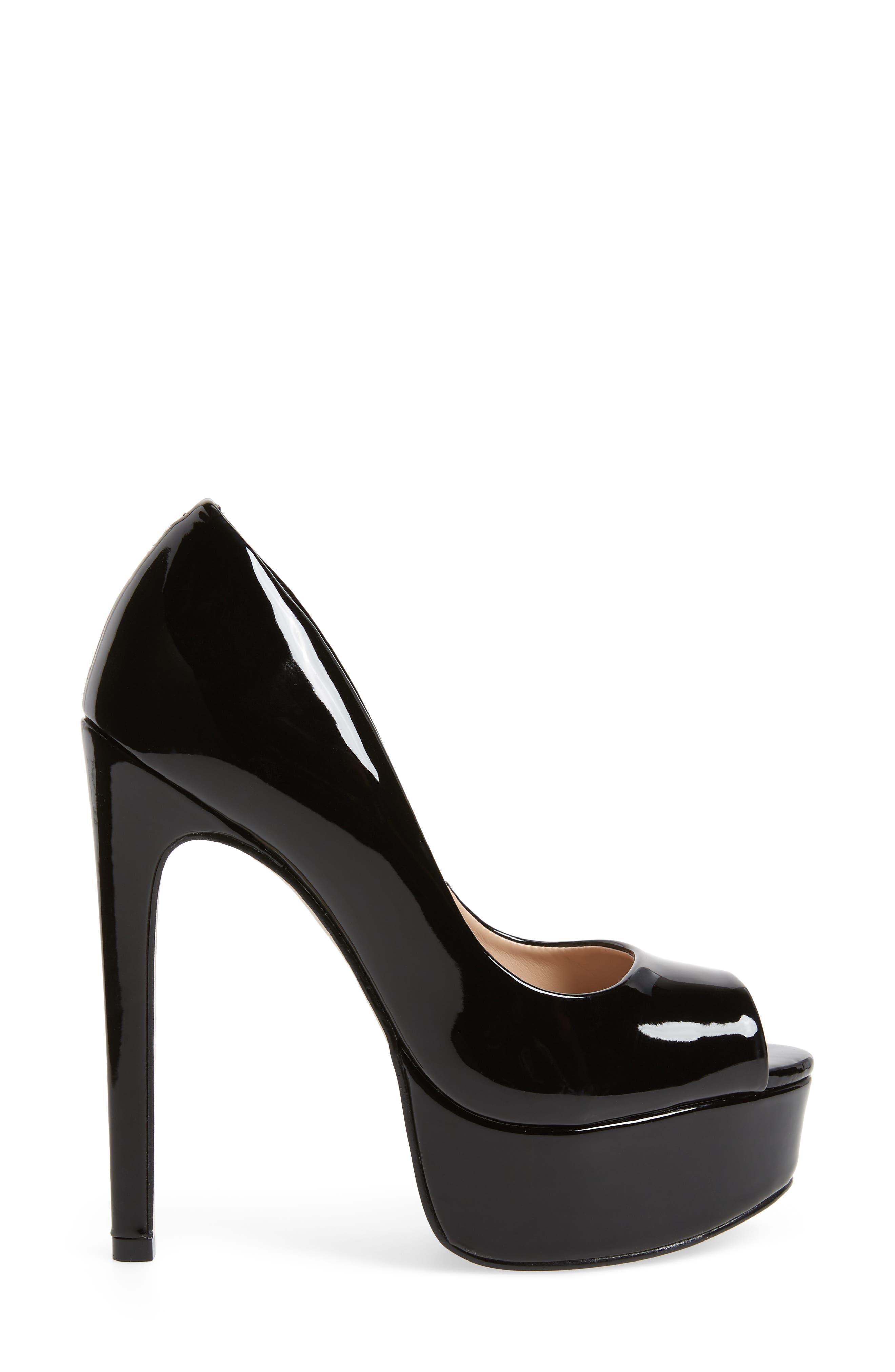Deanna Platform Sandal,                             Alternate thumbnail 4, color,                             Black Patent