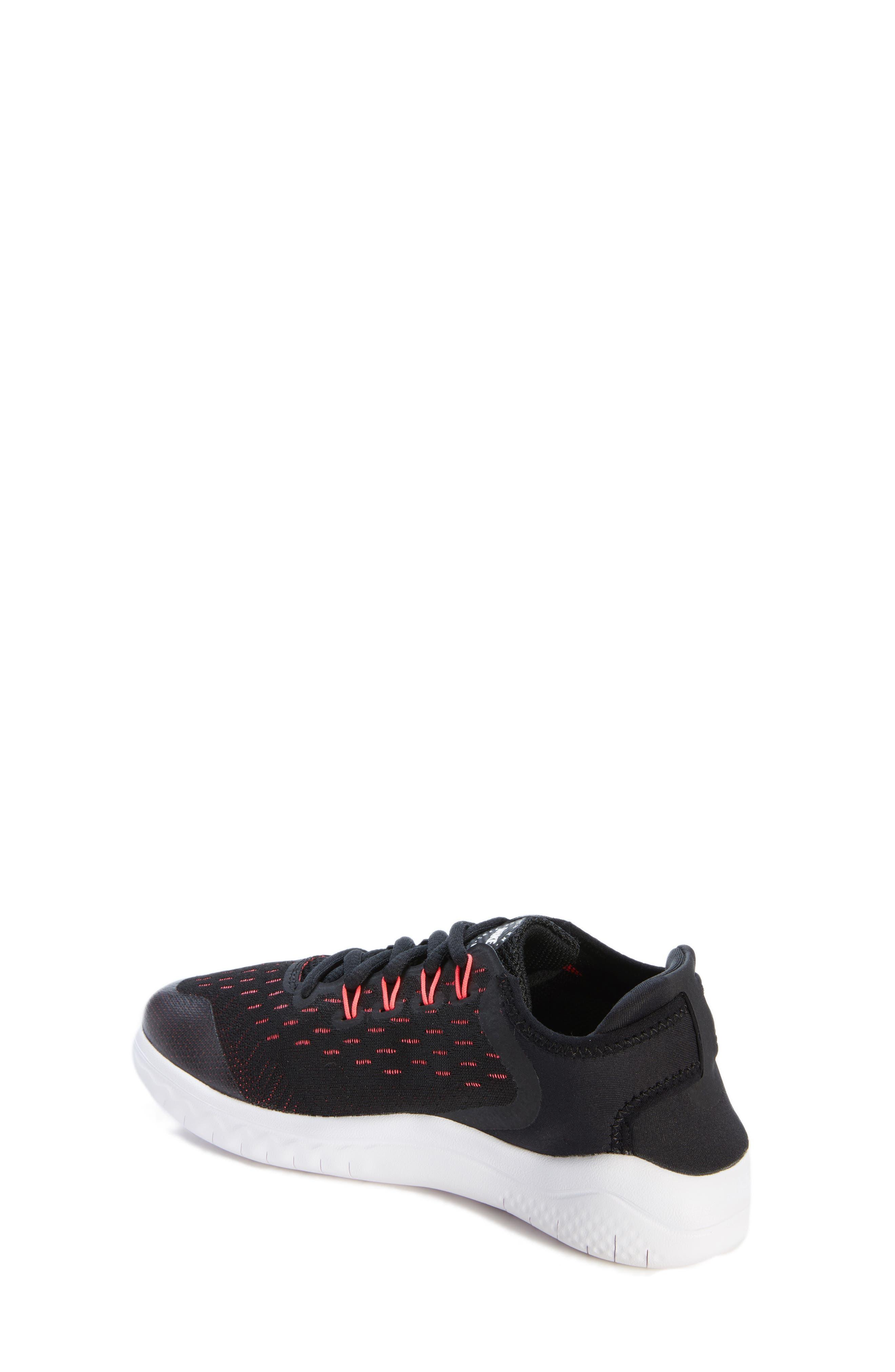 Free RN 2018 Running Shoe,                             Alternate thumbnail 2, color,                             Black/ White/ Pink/ Volt