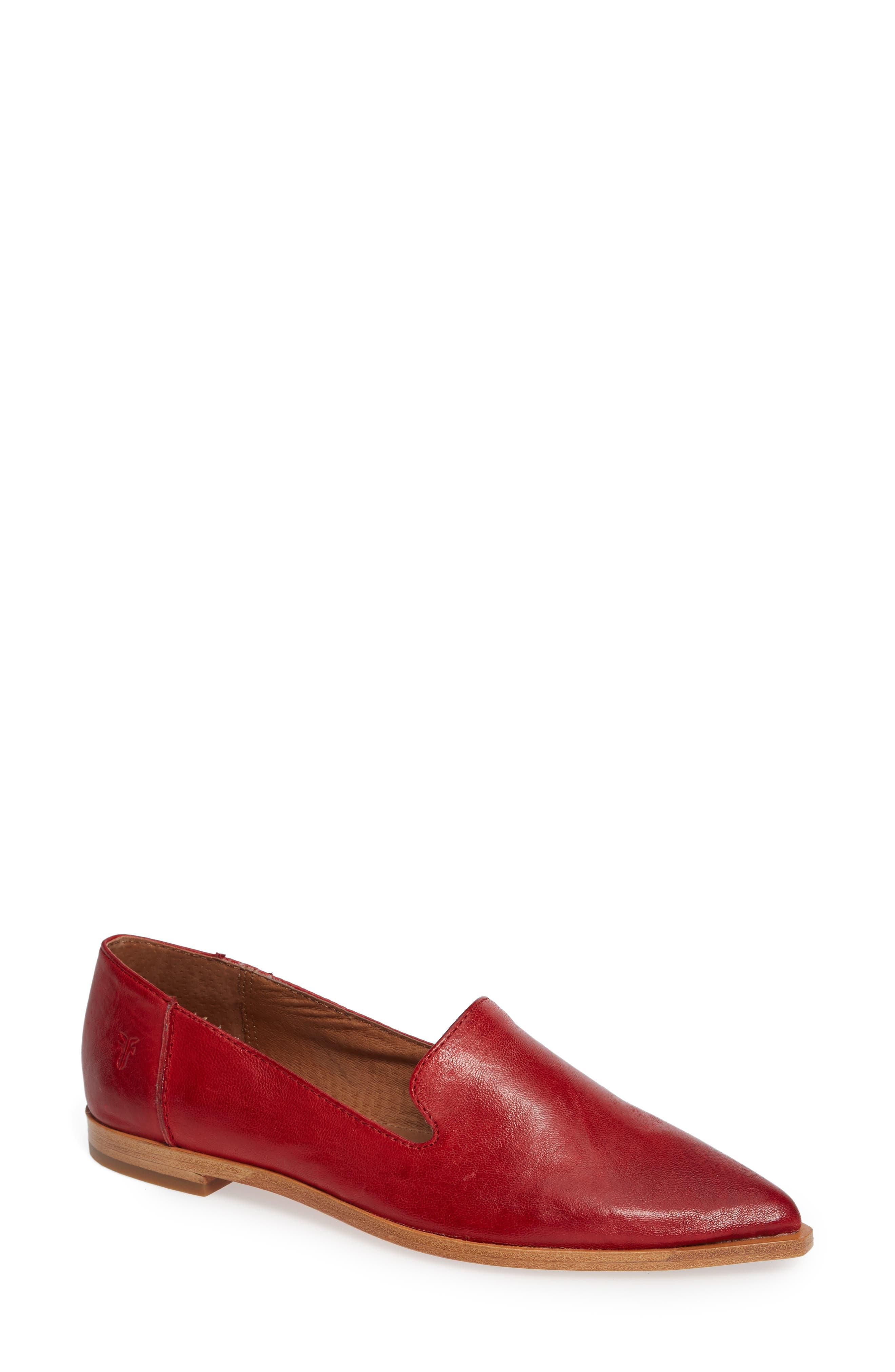 Kenzie Venetian Flat, Red Leather