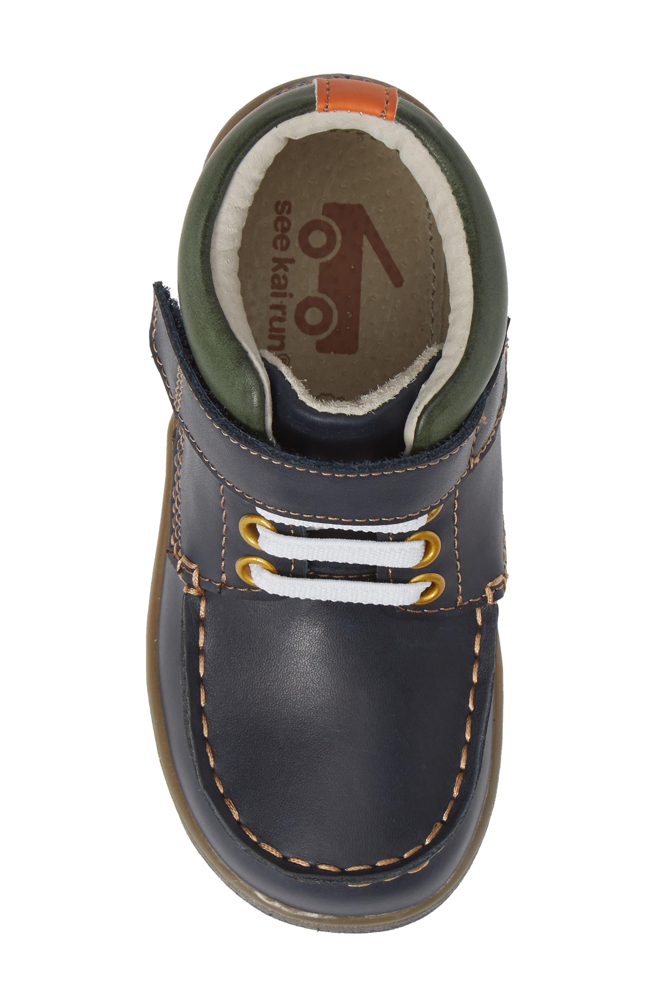 Owen High Top Sneaker Bootie,                             Alternate thumbnail 6, color,                             Navy