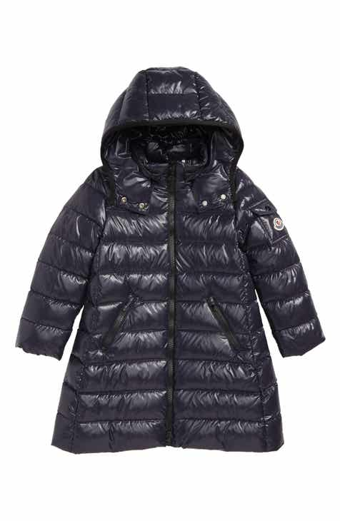 695b50bbbef Moncler Moka Long Hooded Water Resistant Down Jacket (Little Girls & Big  Girls)