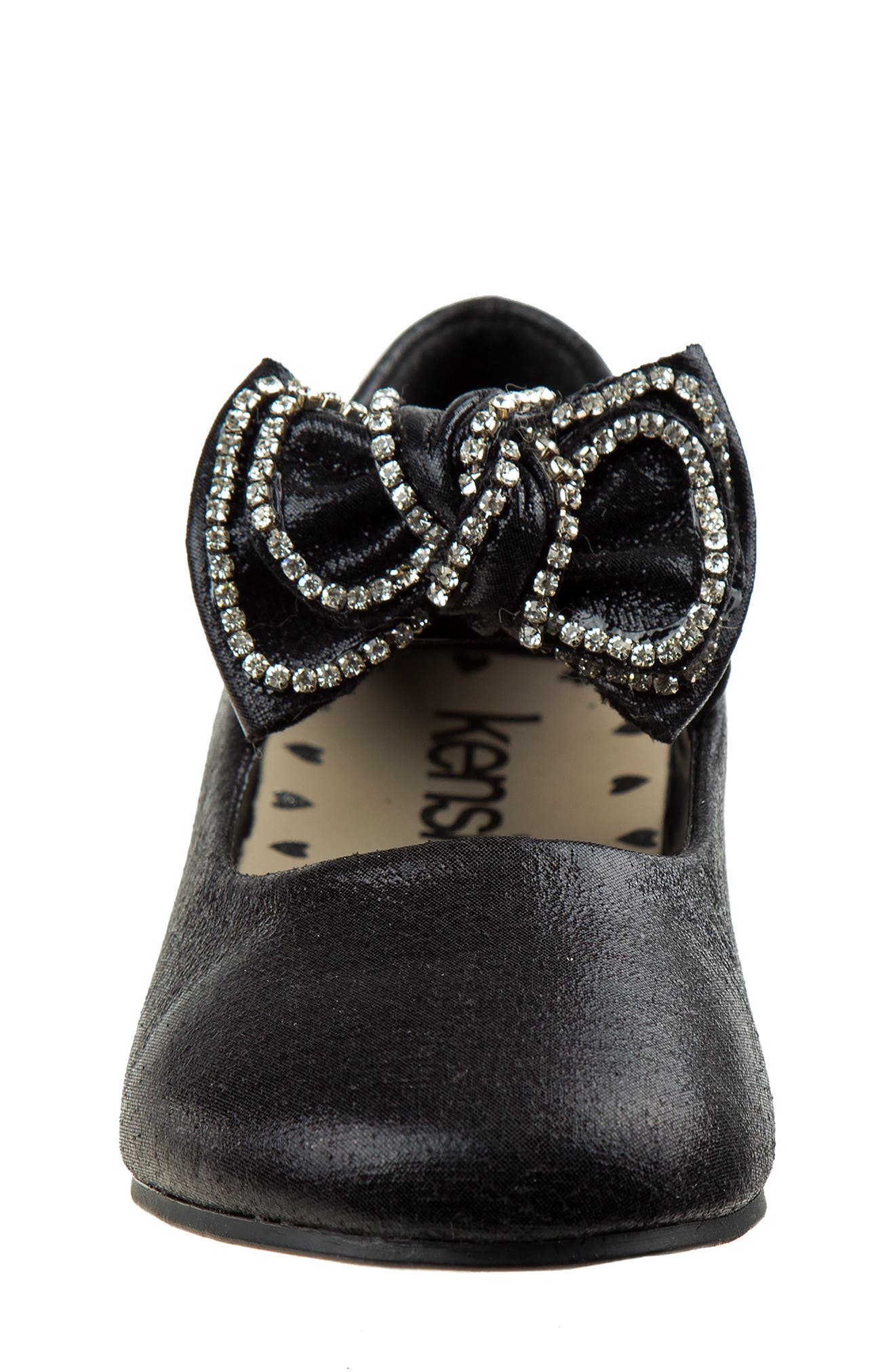 Bow Ballerina Flat,                             Alternate thumbnail 6, color,                             Black