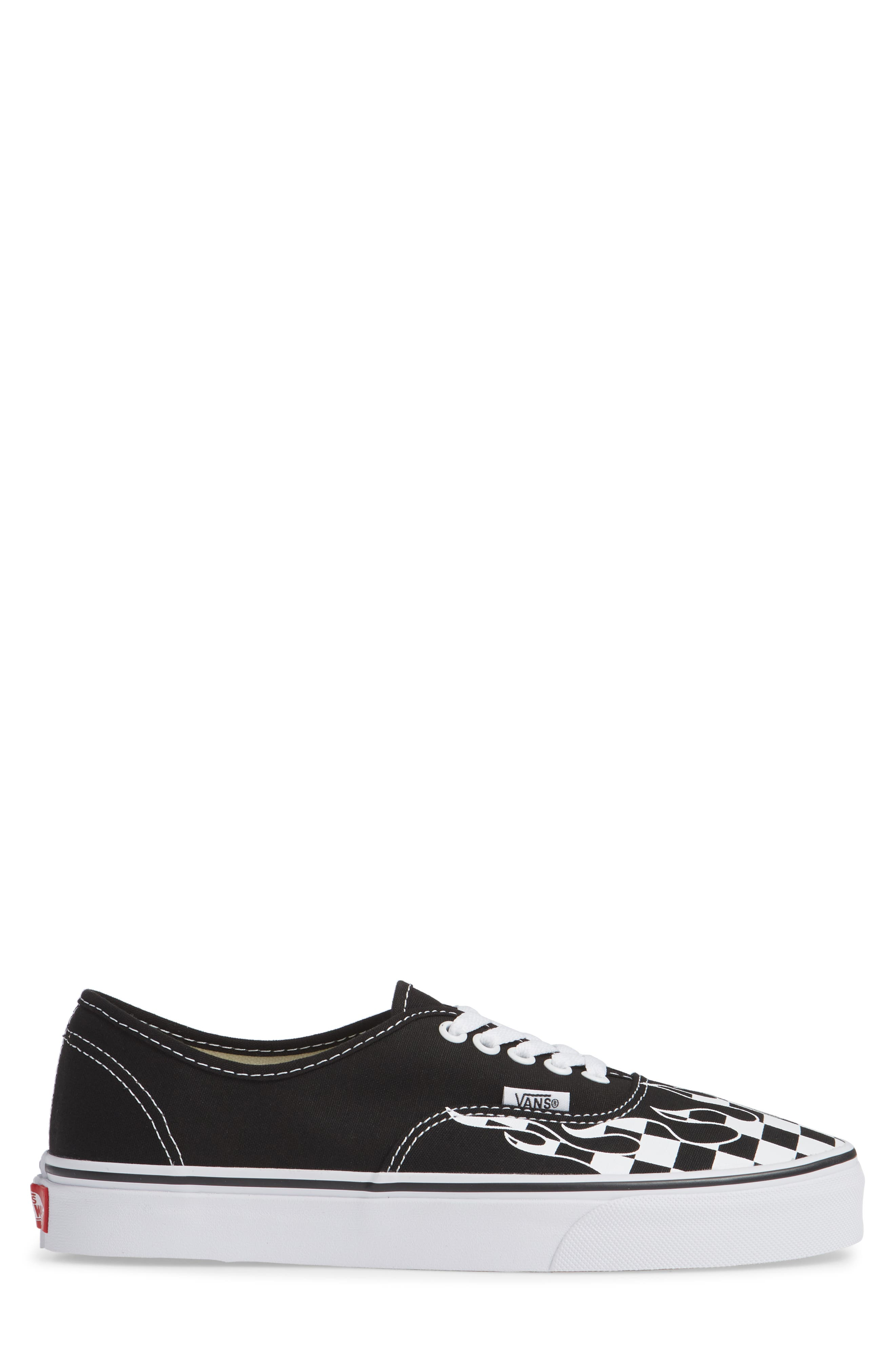 Authentic Sneaker,                             Alternate thumbnail 3, color,                             Black/ True White