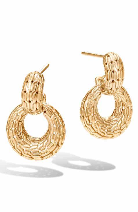 John Hardy Clic Chain Drop Earrings